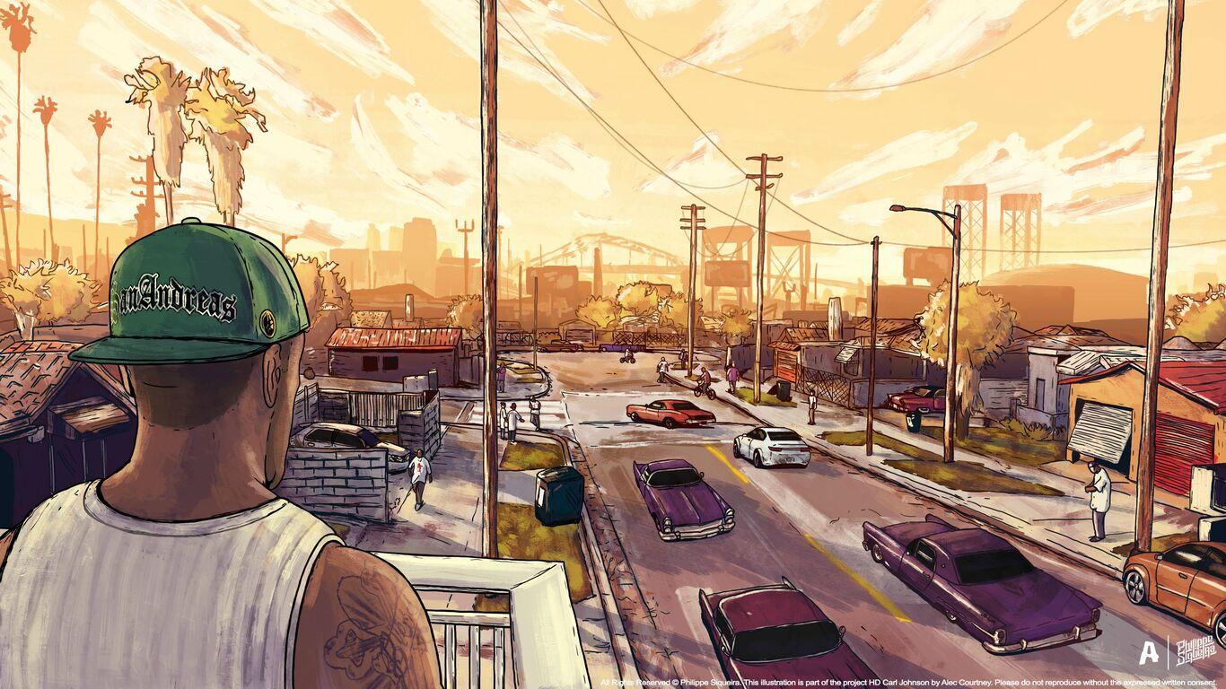 Gta San Andreas Artwork Img