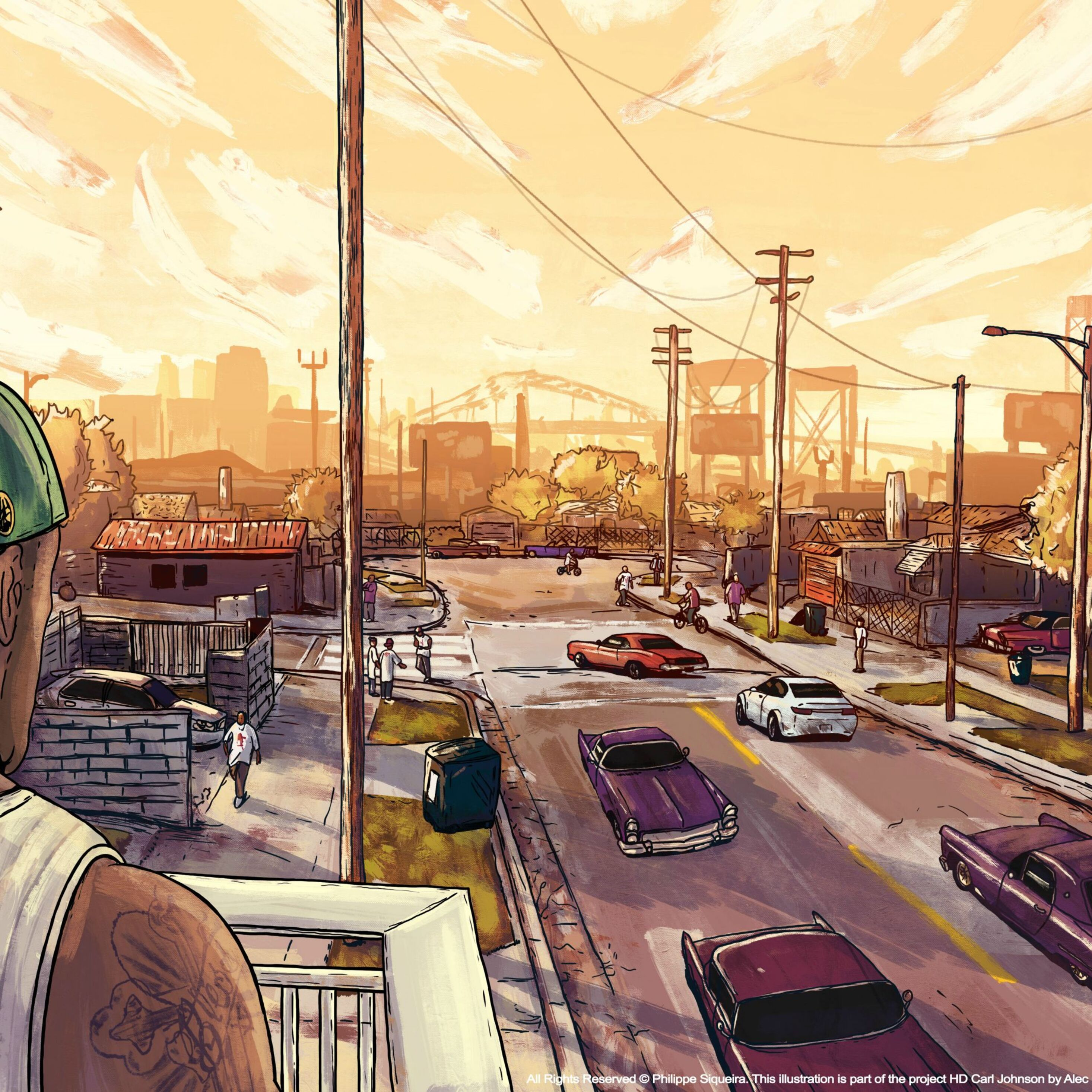 2932x2932 Gta San Andreas Artwork Ipad Pro Retina Display