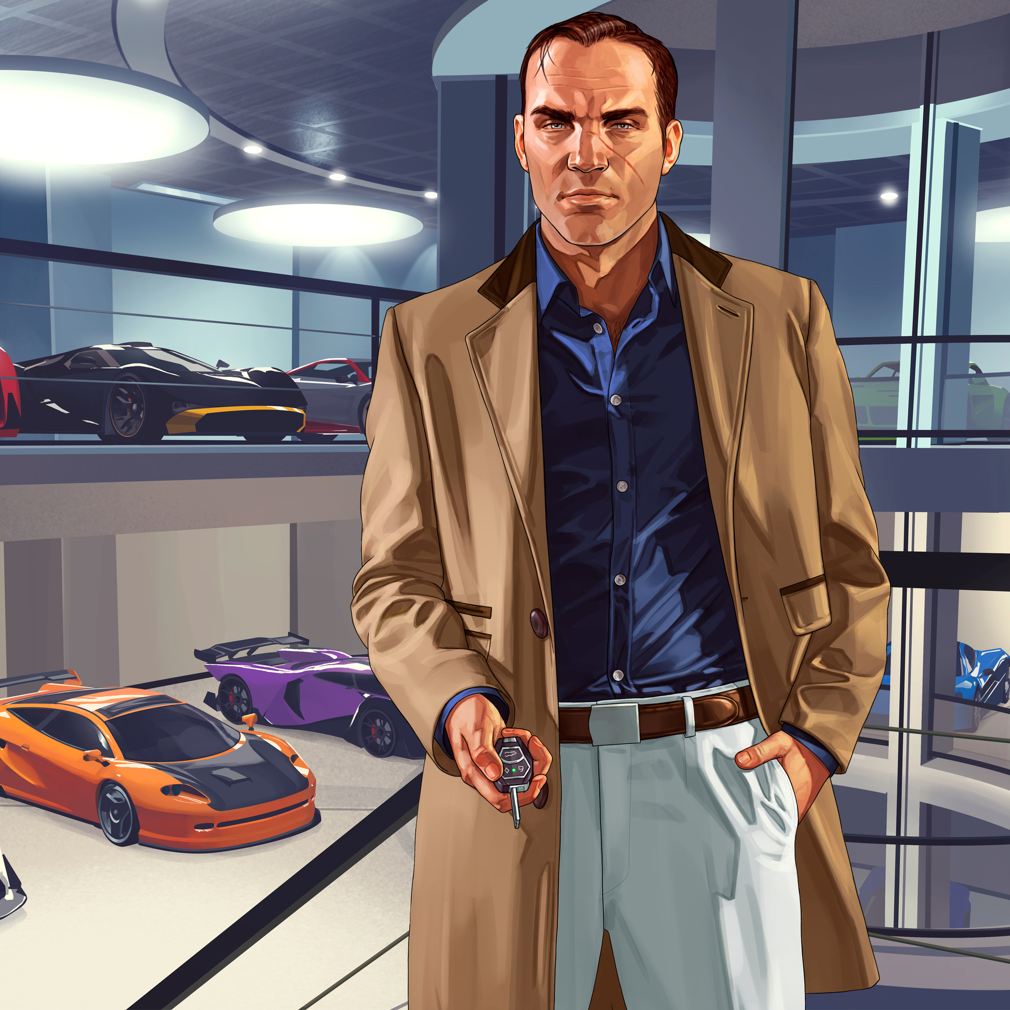2048x2048 Gta V Import Export Dlc 4k Ipad Air HD 4k