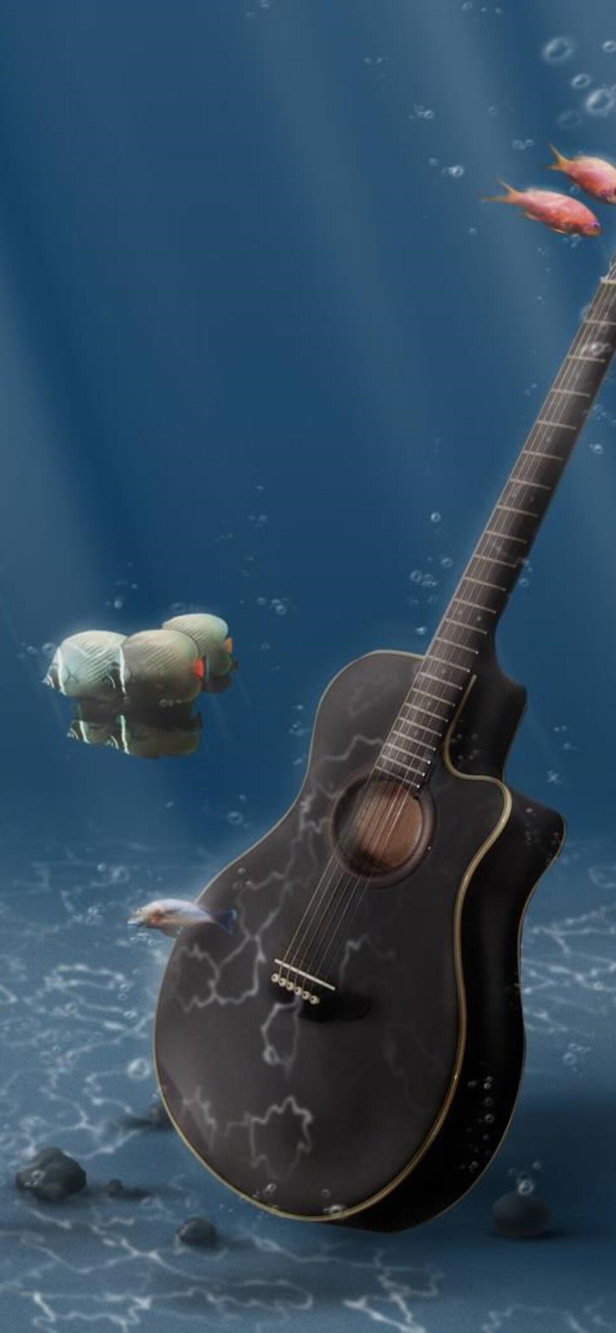 1242x2688 Guitar Digital Art Iphone Xs Max Hd 4k Wallpapers