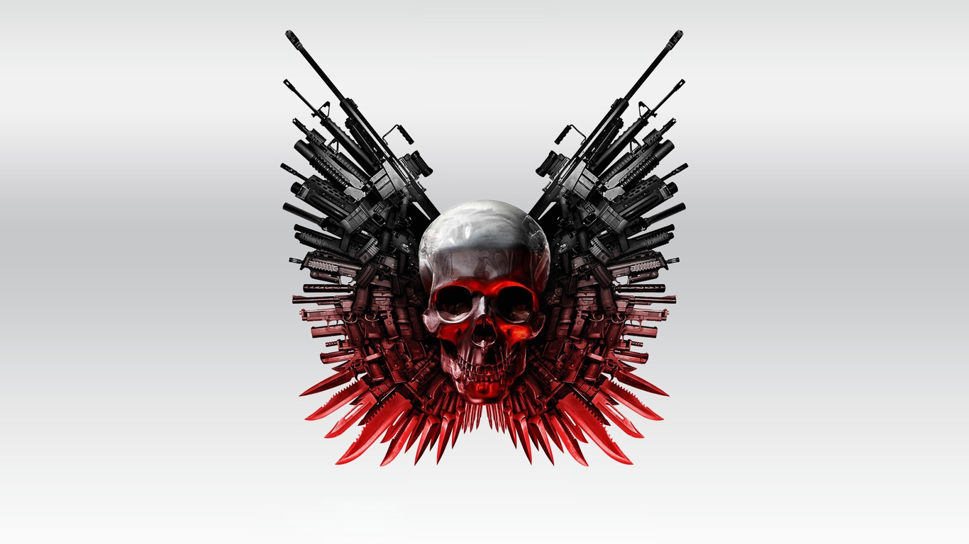 1366x768 Guns And Skull 1366x768 Resolution Hd 4k Wallpapers Images