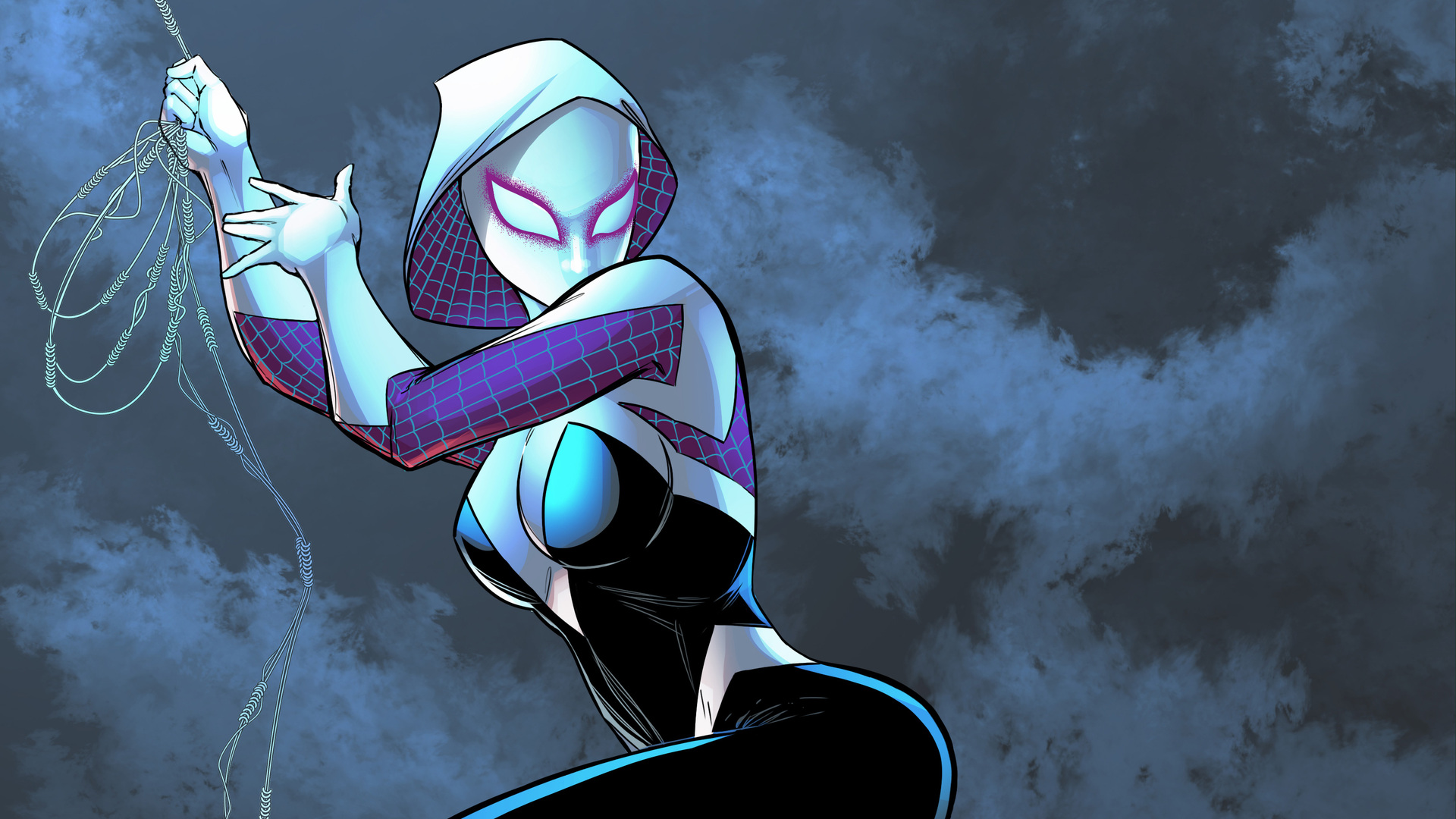 1920x1080 Gwen In Spider Man Into The Spider Verse Laptop Full Hd 1080p Hd 4k Wallpapers Images Backgrounds Photos And Pictures