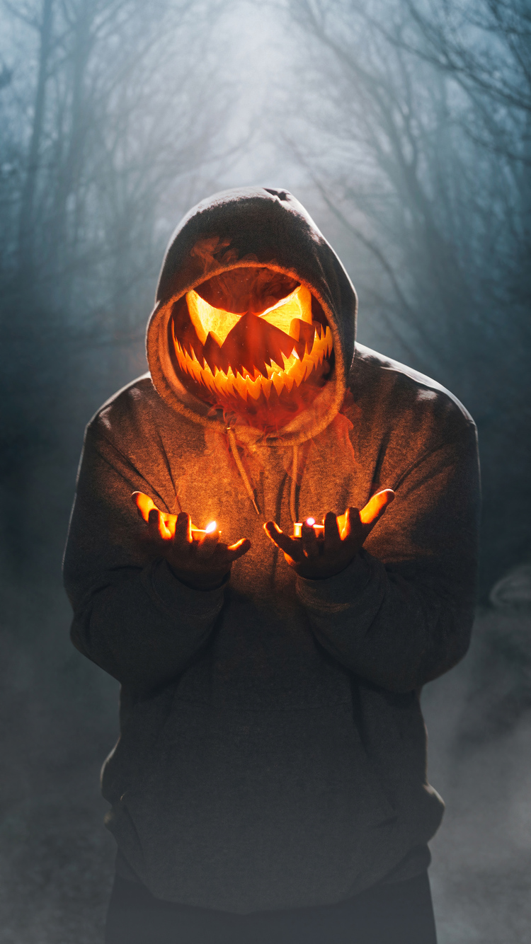 750x1334 Halloween Mask Boy Glowing 4k Iphone 6 Iphone 6s Iphone