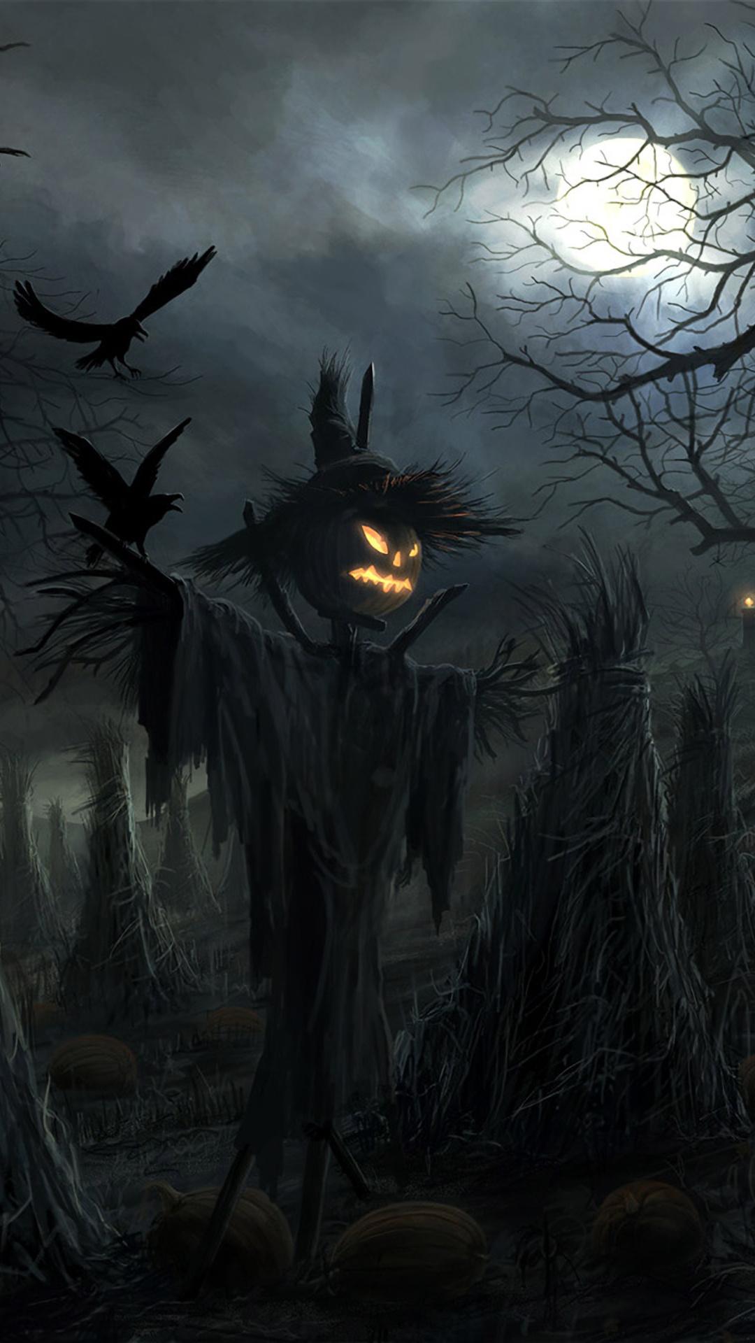 1080x1920 Halloween Scarecrow Iphone 7 6s 6 Plus Pixel Xl One