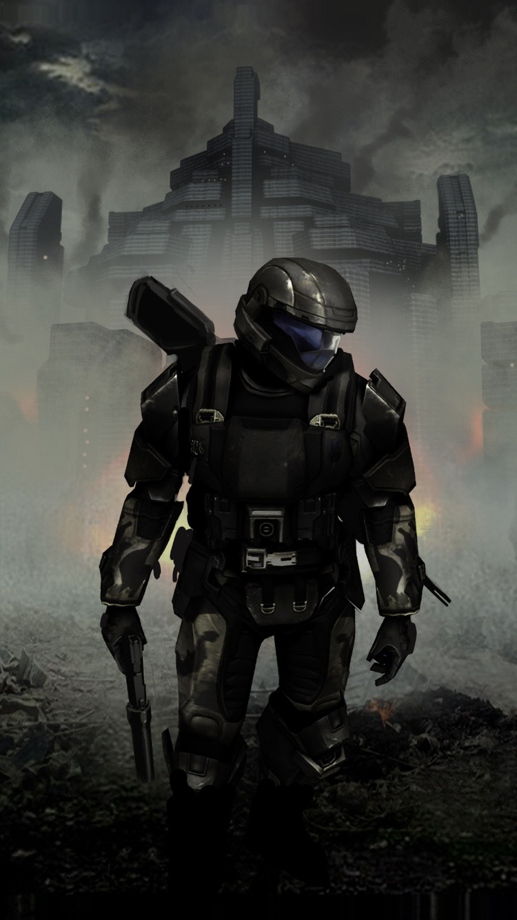 750x1334 Halo 3 Odst Concept Art 4k Iphone 6 Iphone 6s