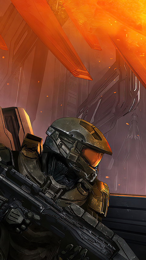 480x854 Halo 4 Game 4k Android One HD 4k Wallpapers ...