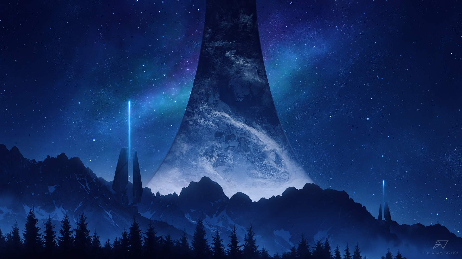 1920x1080 Halo Infinite Into The Night Laptop Full HD ...
