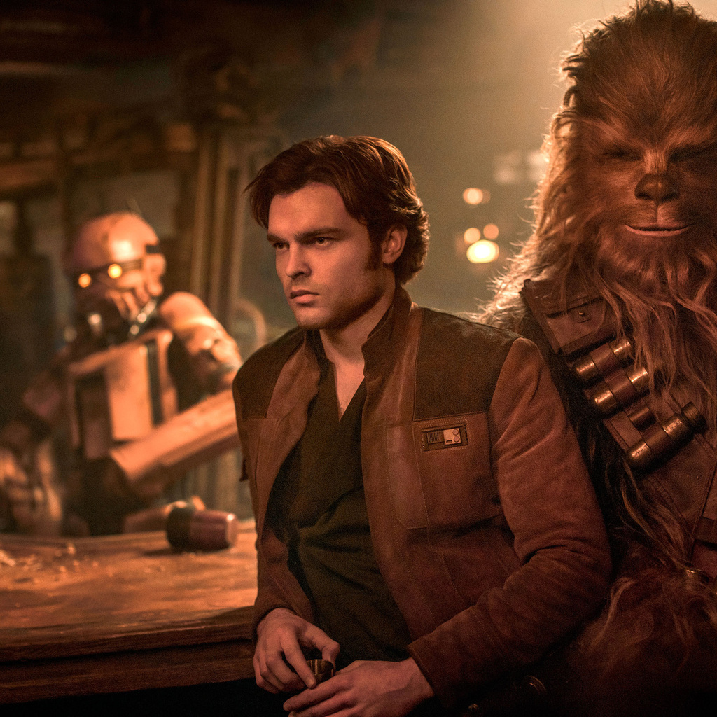 1024x1024 Han Solo And Chewbacca In Solo A Star Wars Story