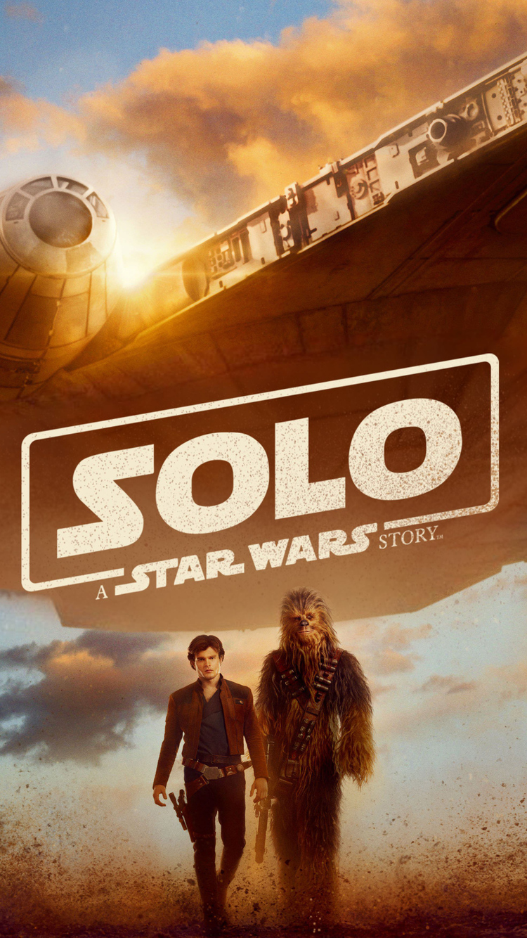 750x1334 han solo and chewbacca solo a star wars story - Han solo wallpaper ...