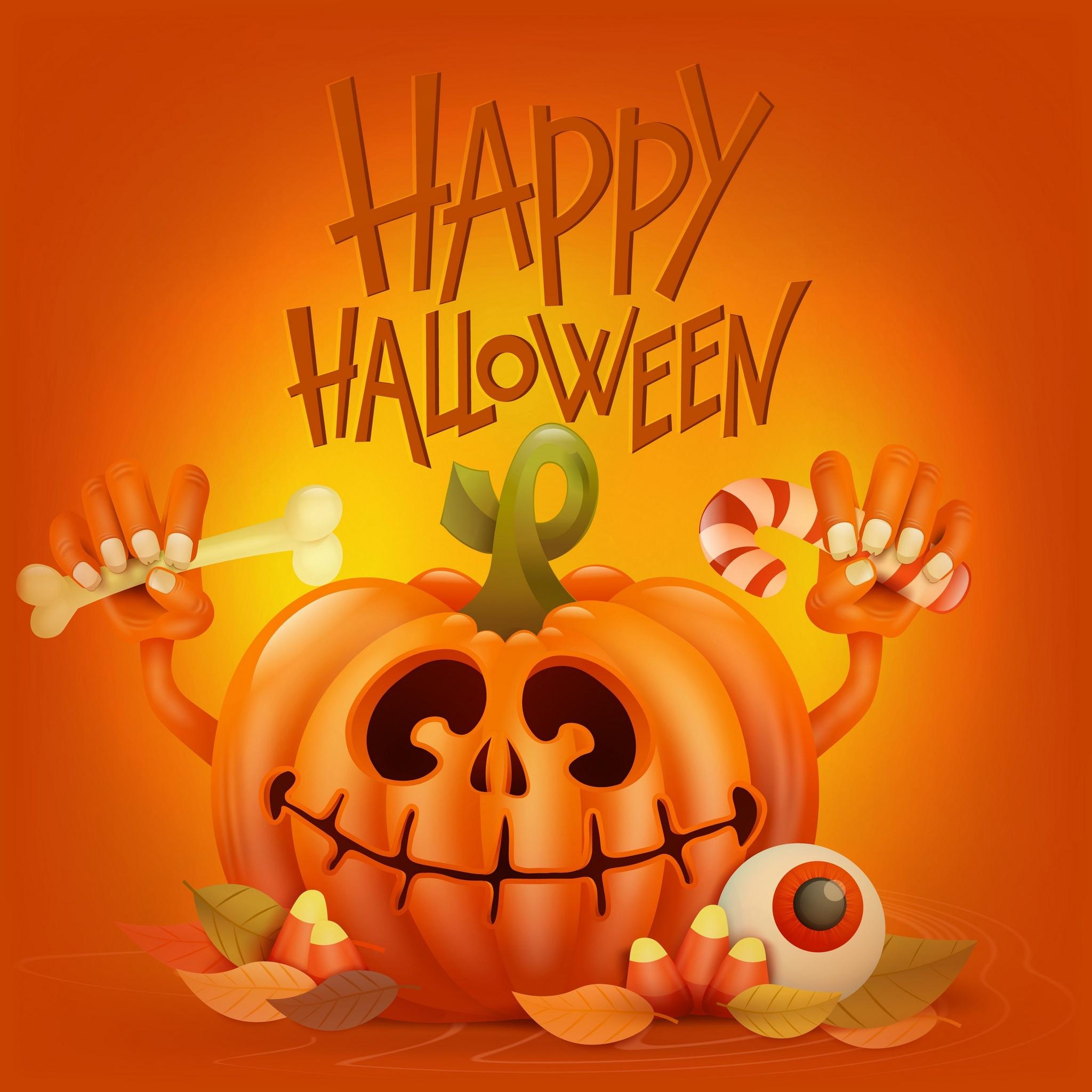 2048x2048 Happy Halloween 4k Ipad Air Hd 4k Wallpapers