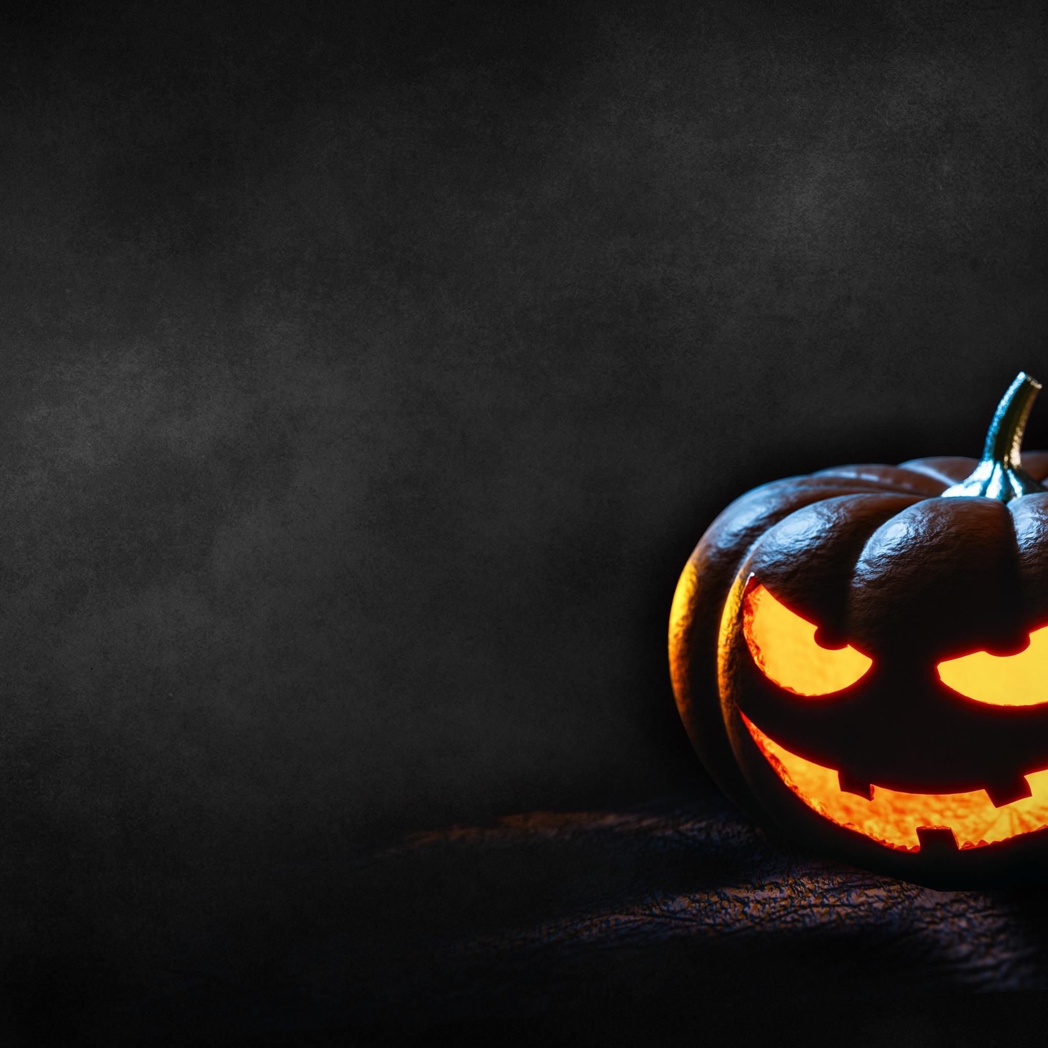 2048x2048 Happy Halloween Pumpkin Ipad Air Hd 4k Wallpapers