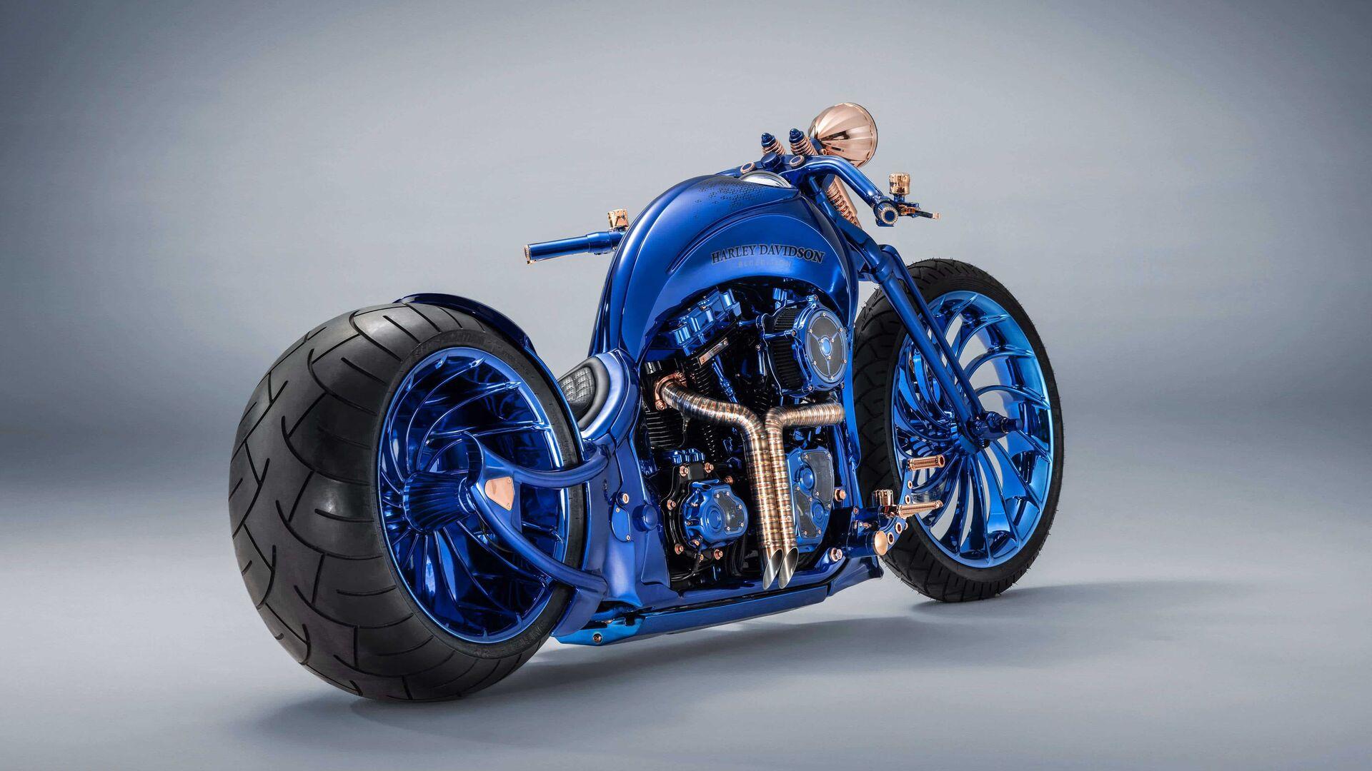 1920x1080 Harley Davidson Blue Edition Laptop Full Hd 1080p
