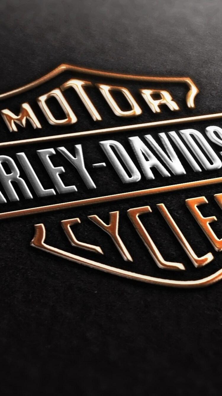 750x1334 Harley Davidson Logo Iphone 6 Iphone 6s Iphone 7