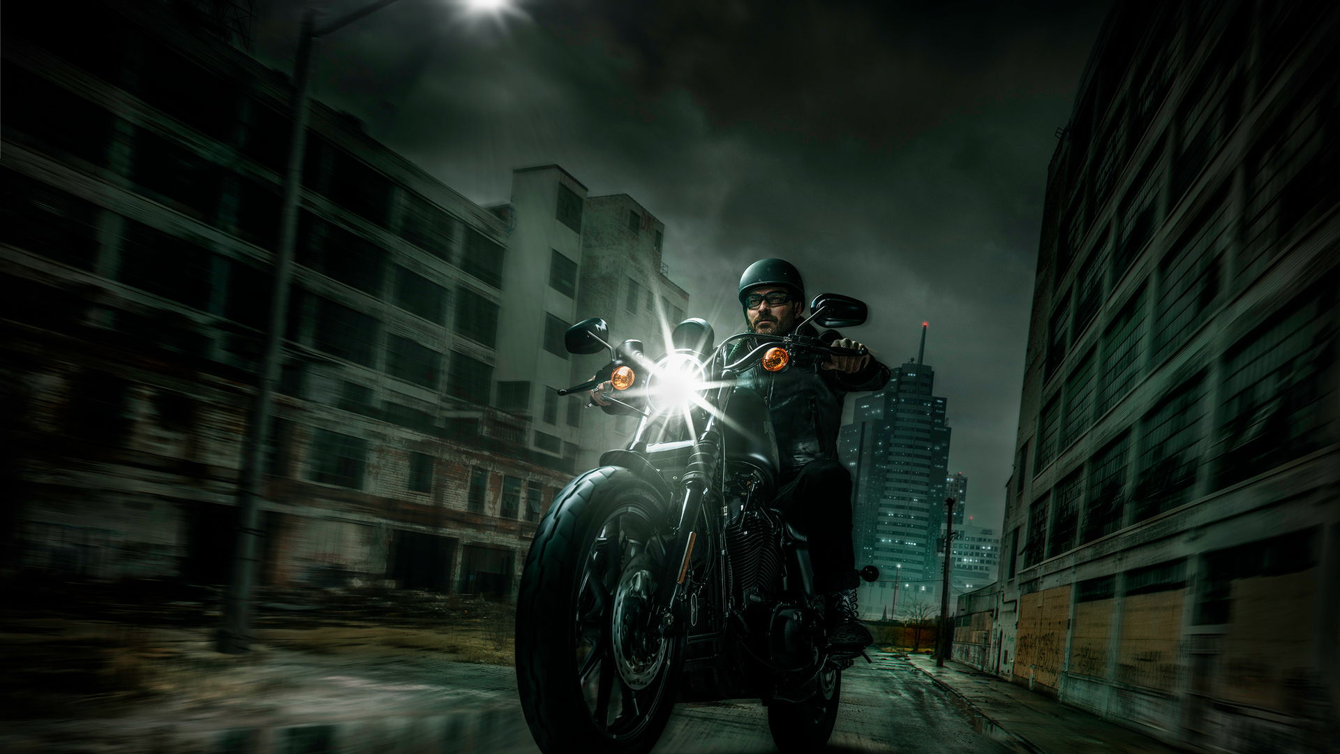 1920x1080 Harley Davidson Night Riders Laptop Full Hd 1080p