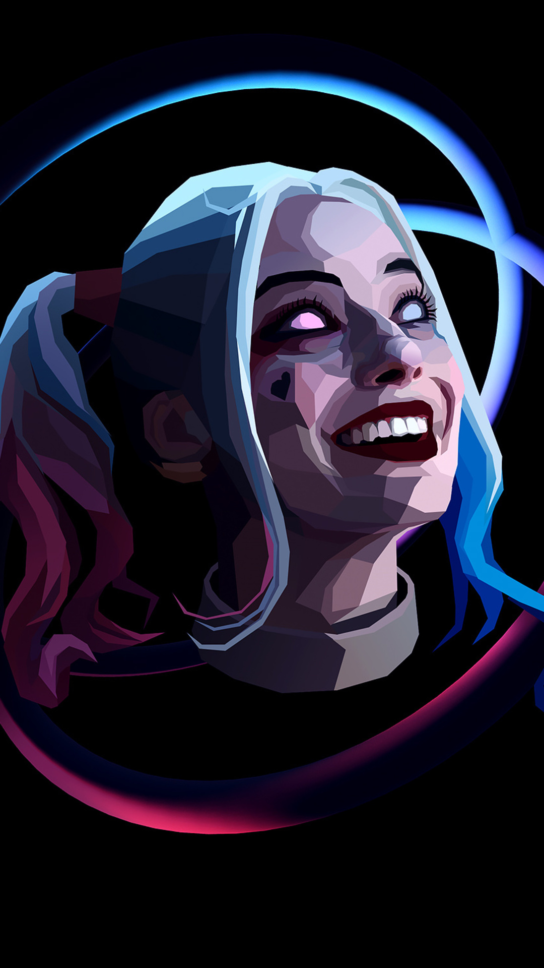 1080x1920 Harley Quinn Abstract Art Iphone 7 6s 6 Plus Pixel Xl