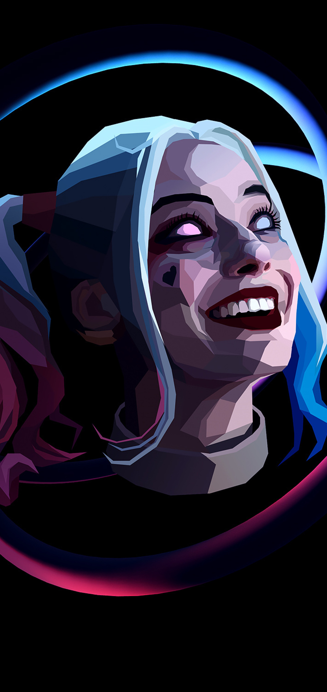 1080x2280 Harley Quinn Abstract Art One Plus 6 Huawei P20 Honor View