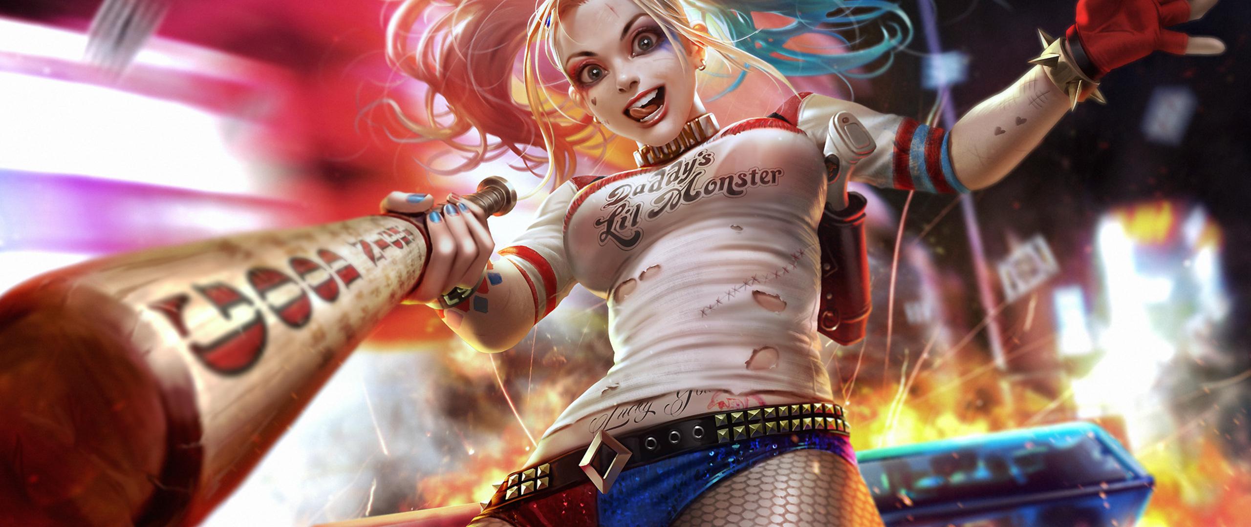 Harley Quinn 4k Hd Wallpapers: 2560x1080 Harley Quinn Amazing Art 2560x1080 Resolution HD