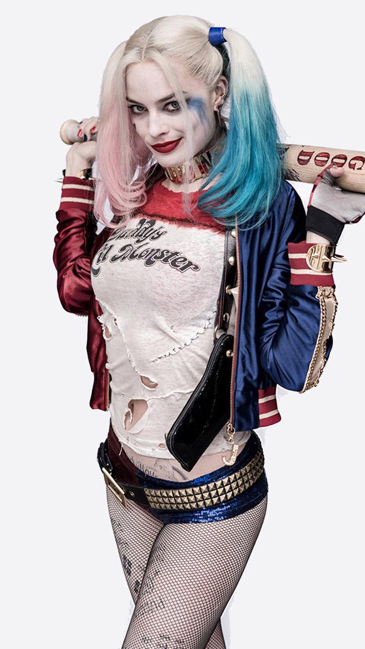 750x1334 Harley Quinn Costume Iphone 6 Iphone 6s Iphone 7 Hd 4k