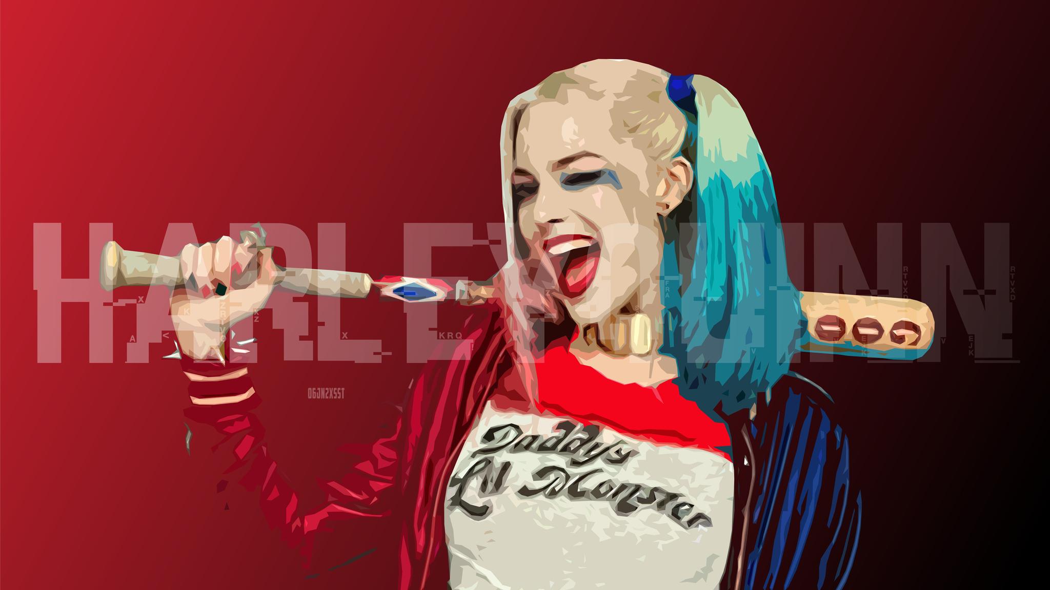 2048x1152 Harley Quinn Digital Art Hd 2048x1152 Resolution