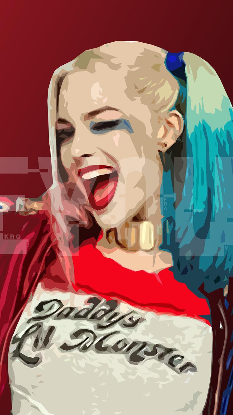750x1334 Harley Quinn Digital Art Hd Iphone 6 Iphone 6s Iphone 7