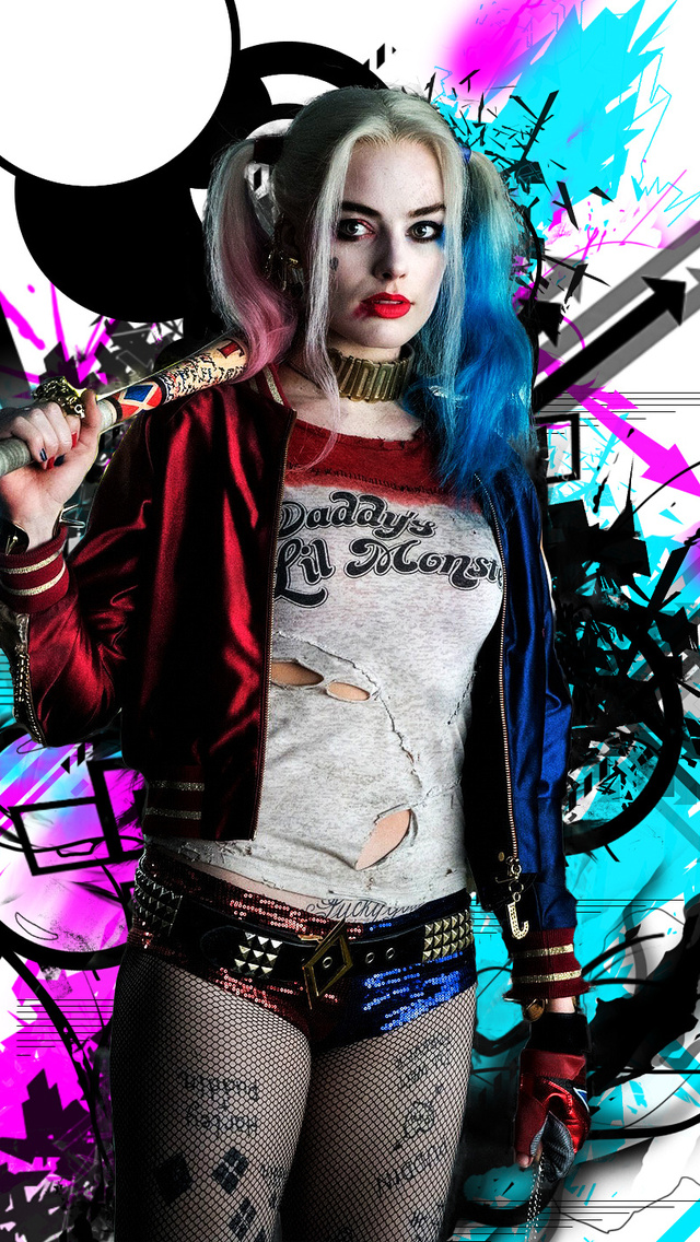 640x1136 Harley Quinn Hd Iphone 5 5c 5s Se Ipod Touch Hd 4k