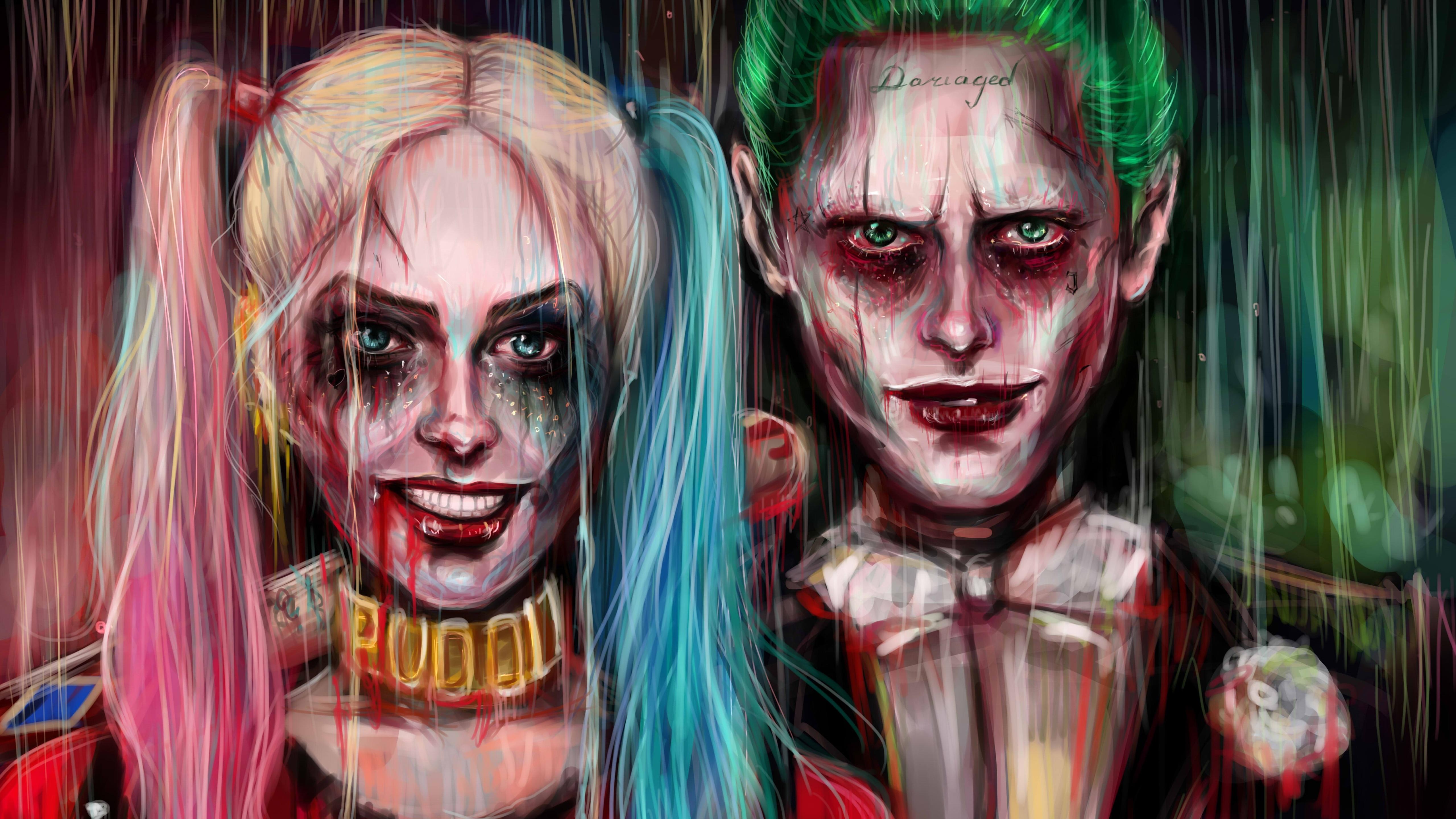 5120x2880 Harley Quinn Joker Painting Artwork 4k 5k 5k Hd 4k
