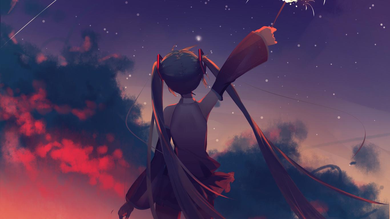 1366x768 Hatsune Miku Anime Vocaloid Girl 1366x768 ...