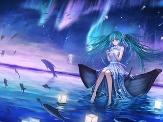 320x240 Hatsune Miku Vocaloid Anime Girl 4k Apple Iphone ...