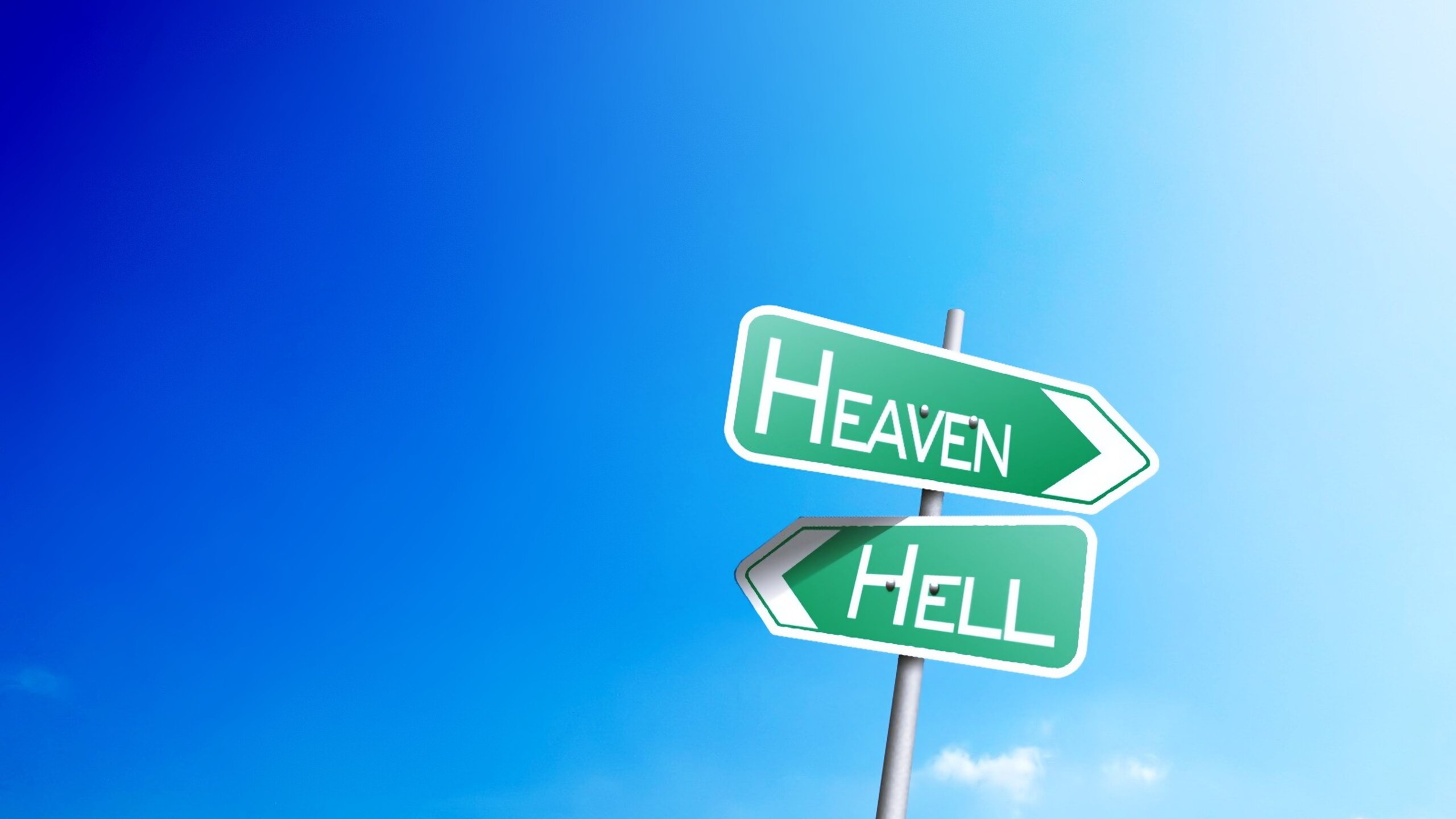2560x1440 Heaven Or Hell Sign Board 1440P Resolution HD 4k Wallpapers,  Images, Backgrounds, Photos and Pictures
