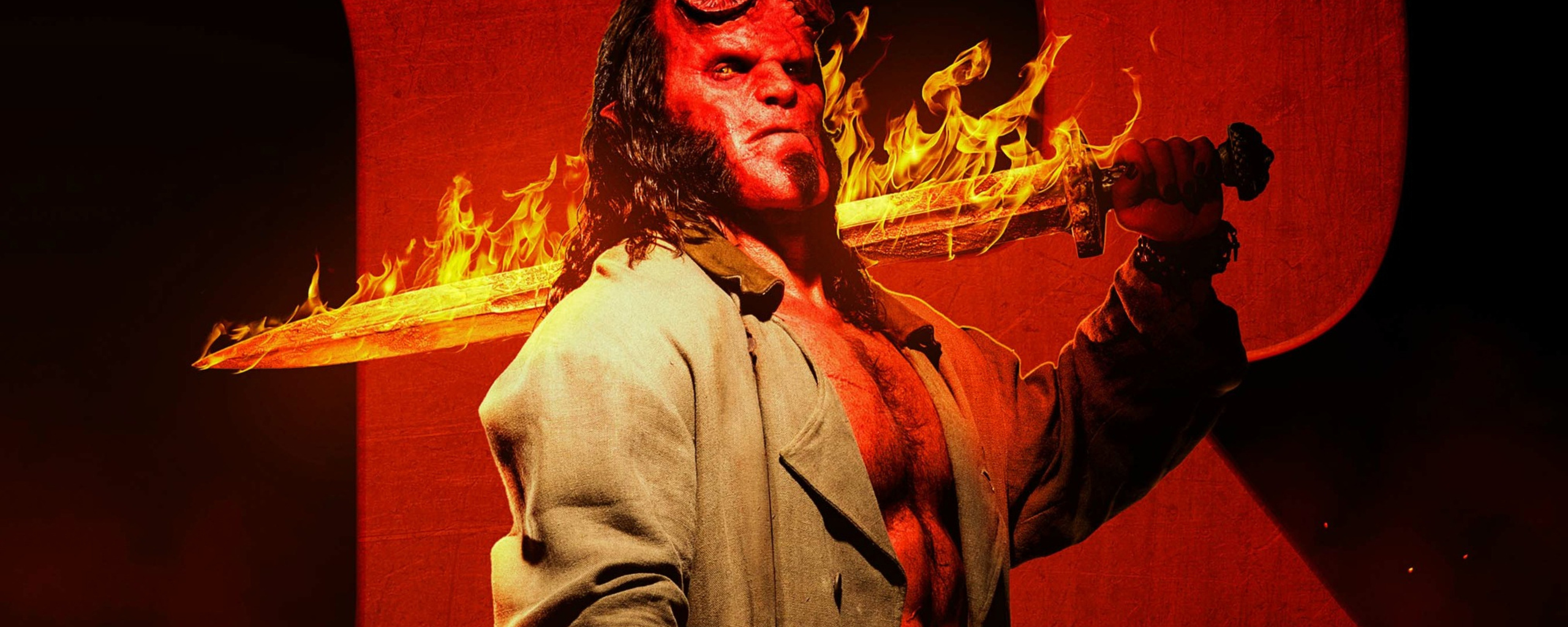r rated superhero movie 2019 2560x1024 Hellboy 2019 R Rated 2560x1024 Resolution HD 4k