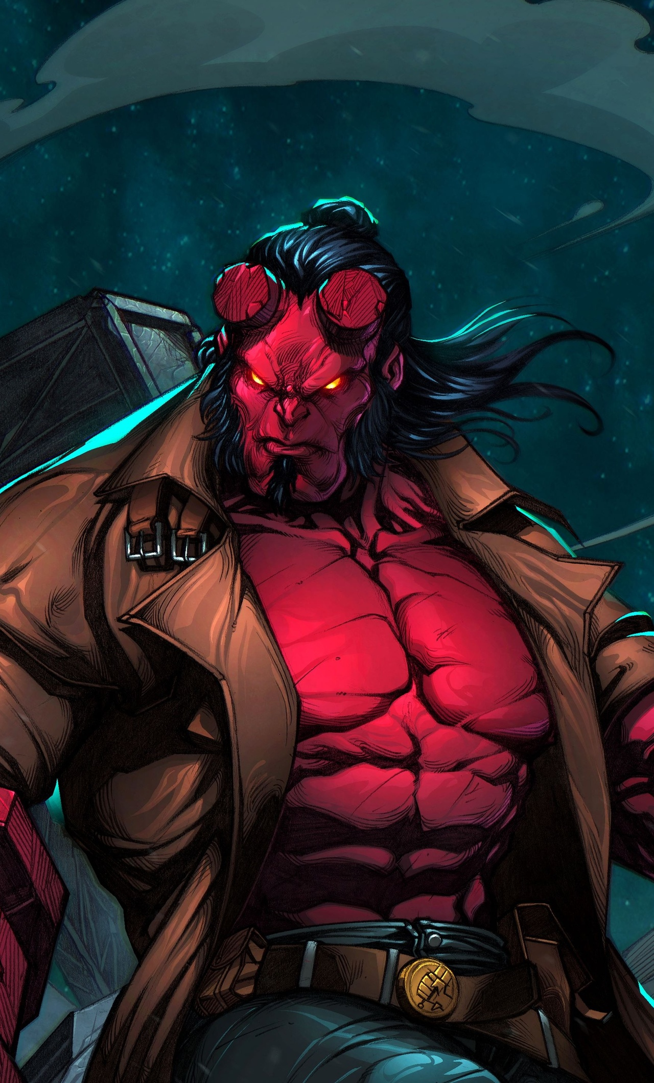 1280x2120 Hellboy 4k Art Iphone 6 Hd 4k Wallpapers Images