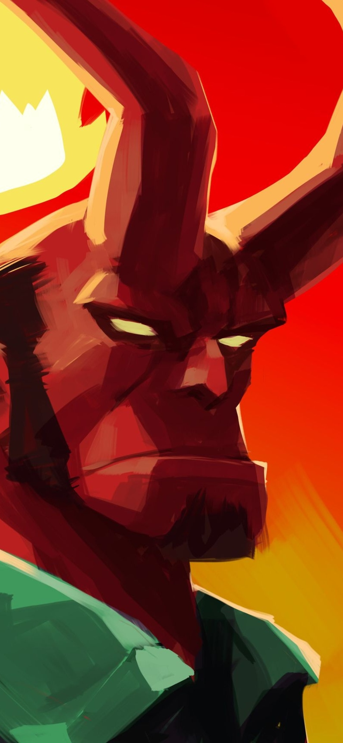 1125x2436 Hellboy Art Iphone Xs Iphone 10 Iphone X Hd 4k Wallpapers