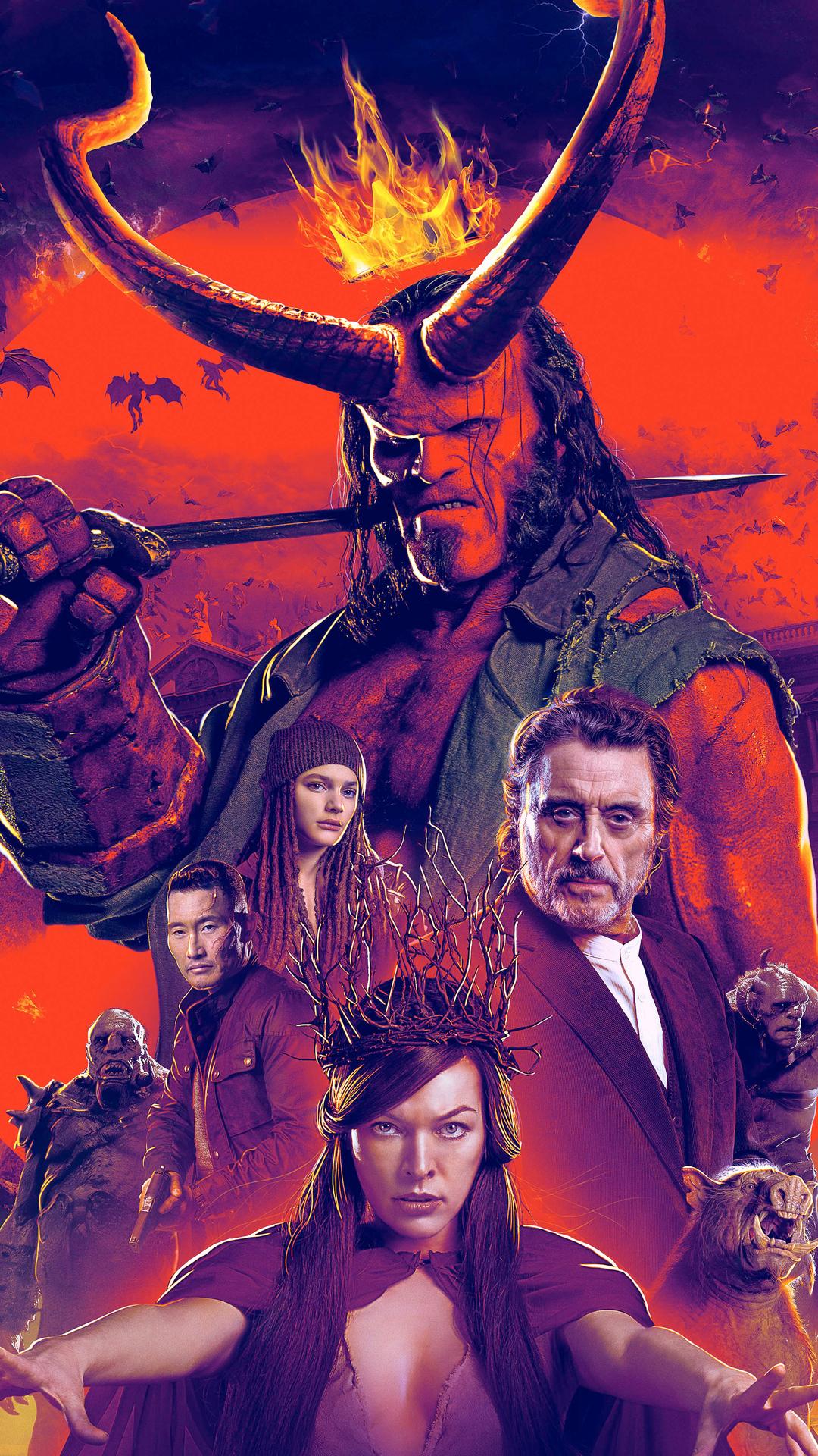 1080x1920 Hellboy Movie Poster 2019 Iphone 7,6s,6 Plus, Pixel xl ,One Plus 3,3t,5 HD 4k ...