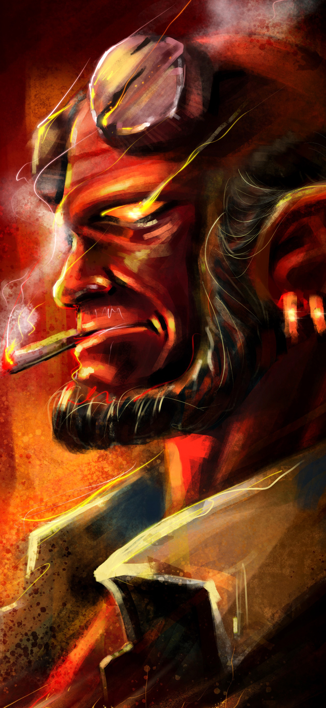 1125x2436 Hellboy Smoking Iphone Xs Iphone 10 Iphone X Hd 4k