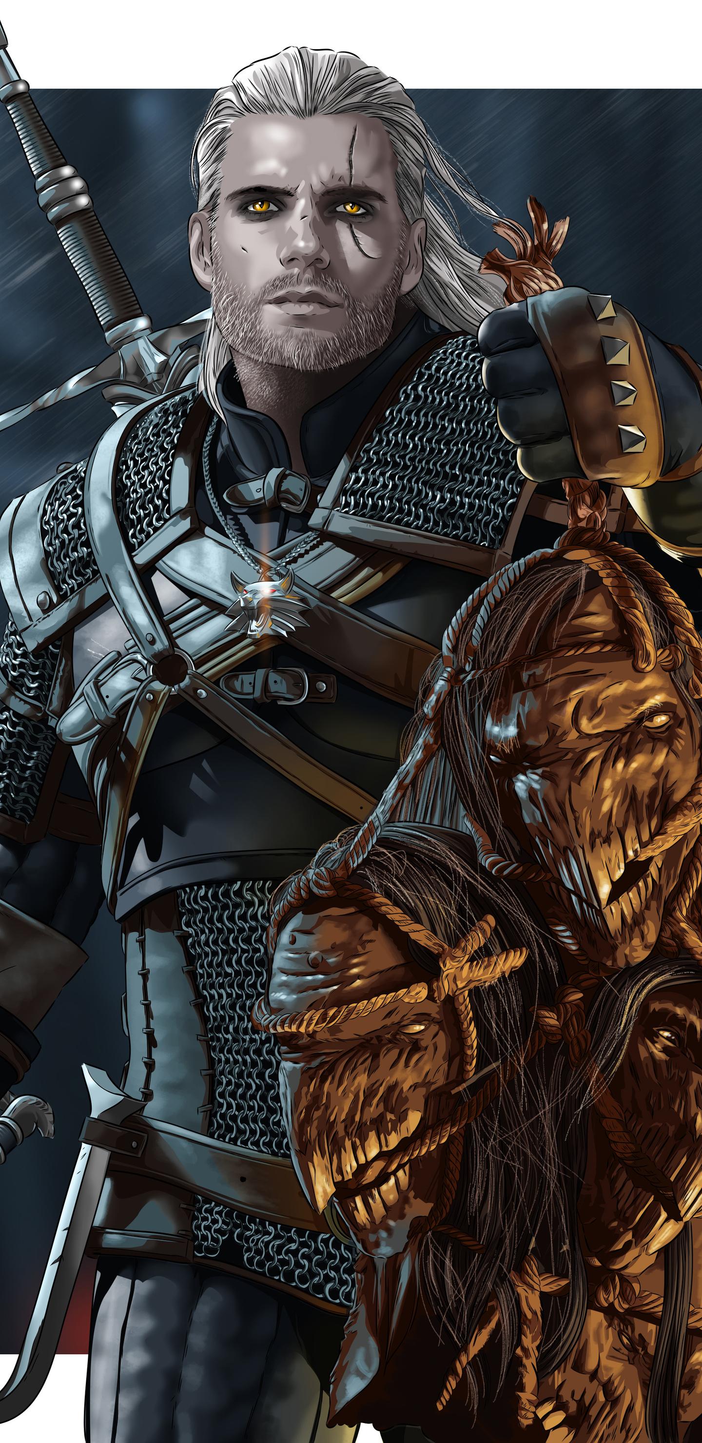 1440x2960 Henry Cavill As Geralt Of Rivia Samsung Galaxy