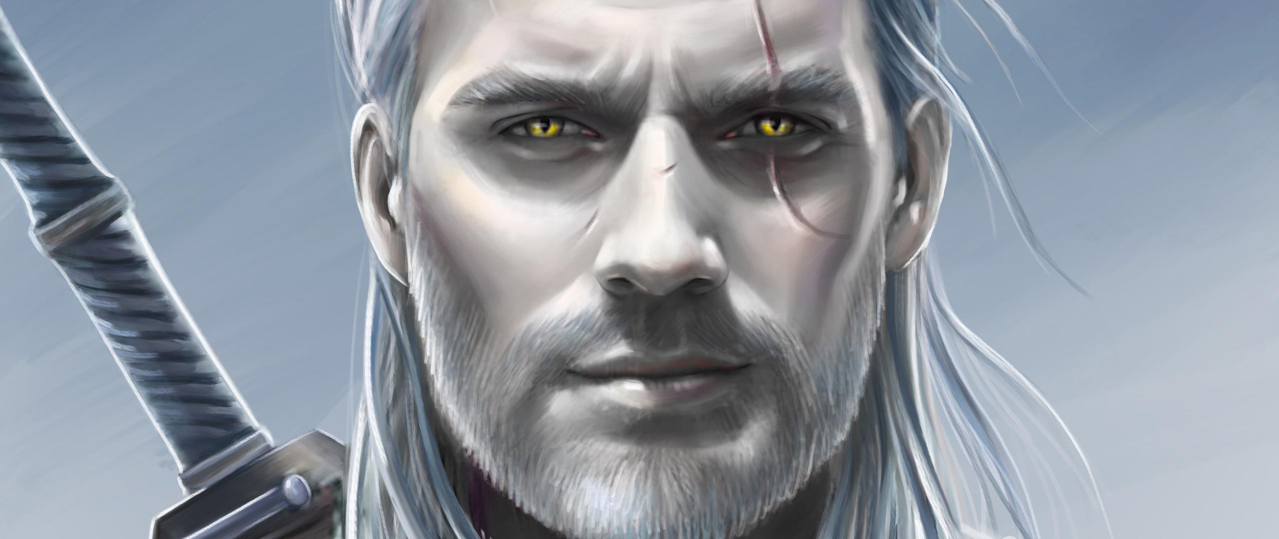 2560x1080 Henry Cavill As Geralt The Witcher 2560x1080