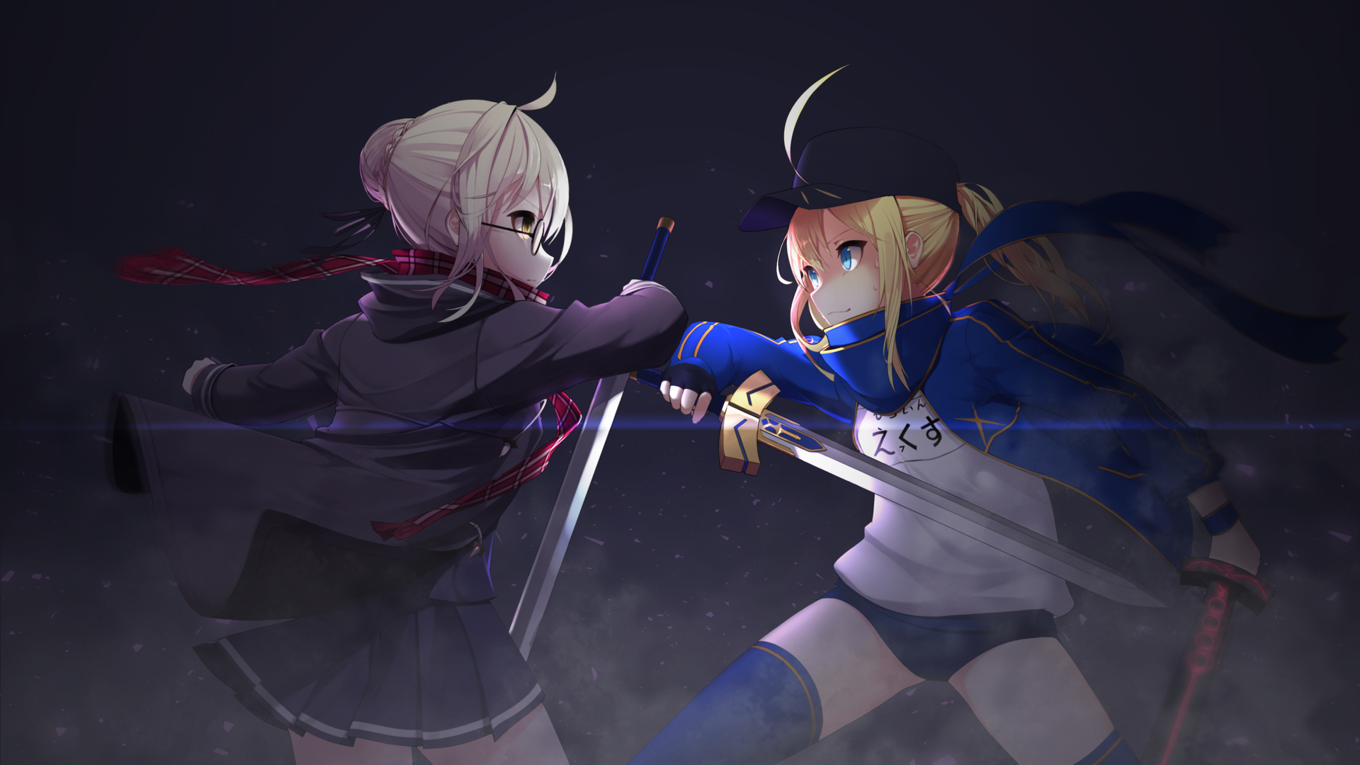 1920x1080 Heroine X And Saber Anime Fate Grand Order Laptop Full Hd