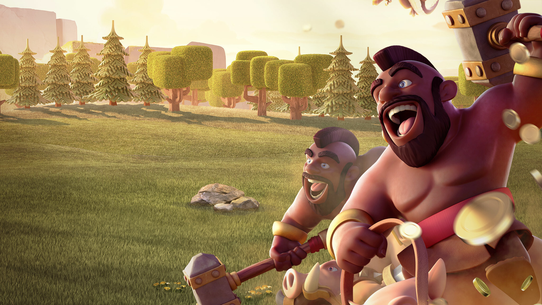 Barbarian Clash Of Clans Hd Hd Games 4k Wallpapers: 2048x1152 Hog Rider Clash Of Clans 2048x1152 Resolution HD