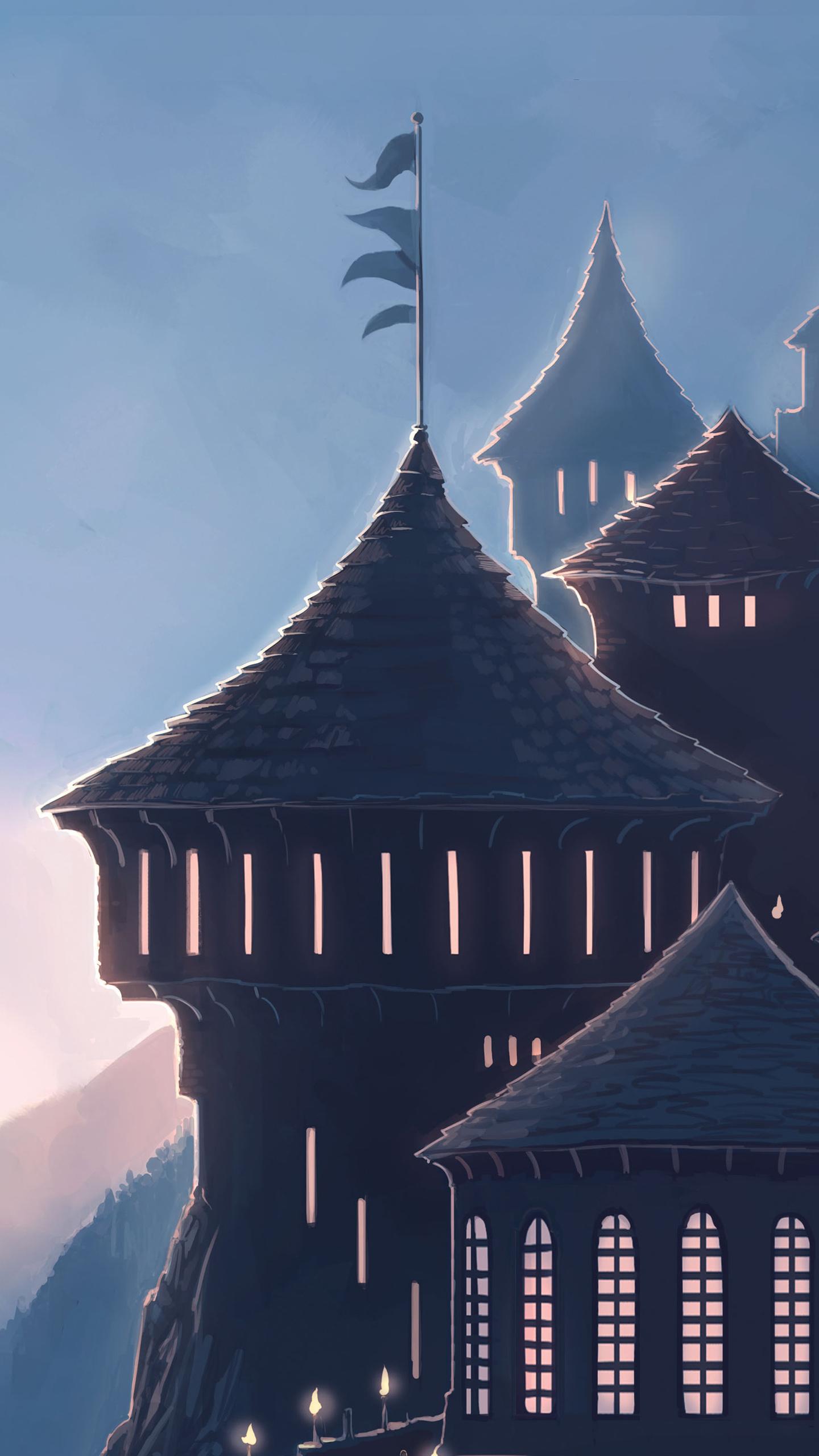 Wonderful Wallpaper Harry Potter Galaxy S6 - hogwarts-harry-potter-school-5k-78-1440x2560  HD_429177.jpg