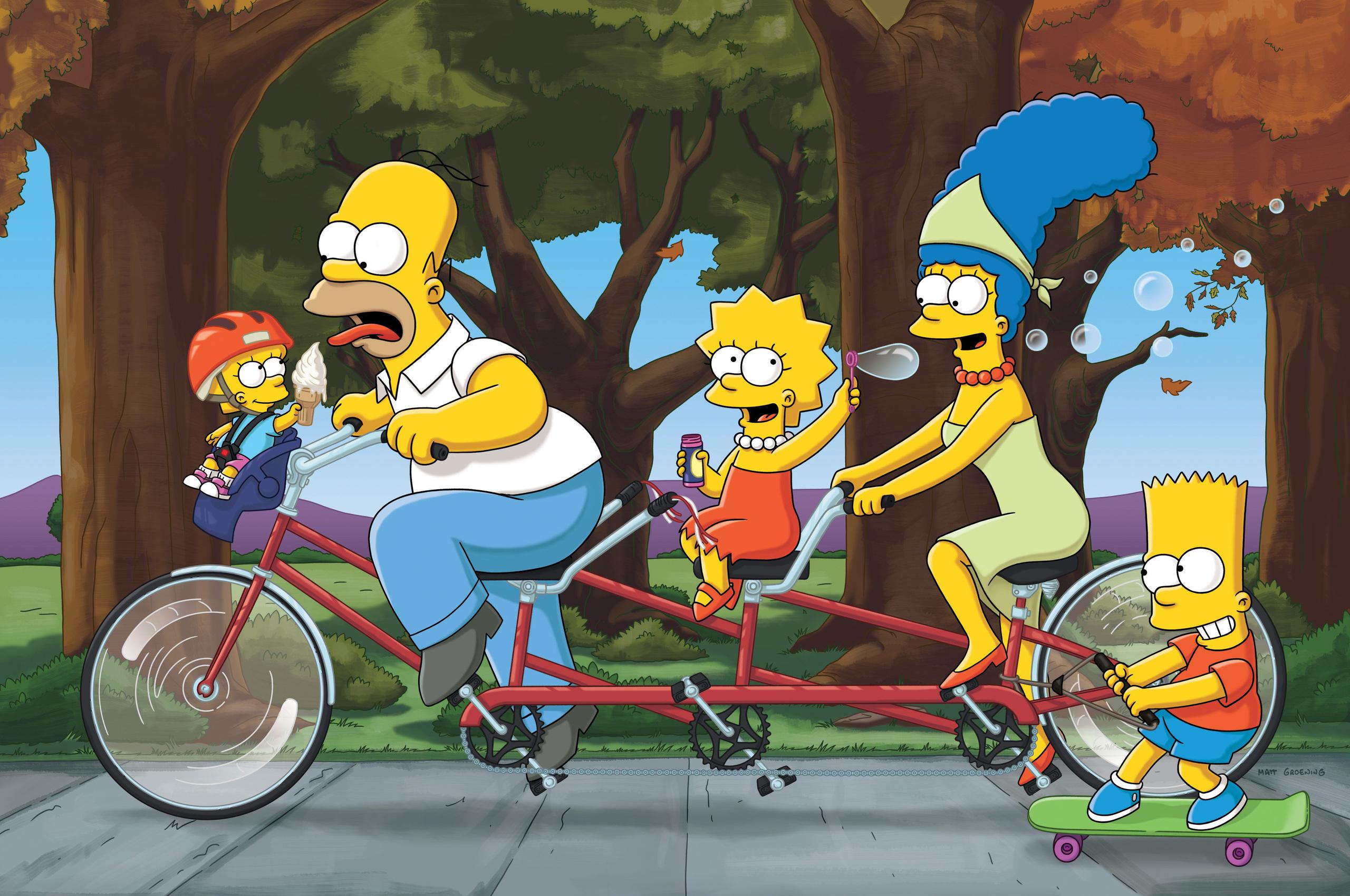 2560x1700 Homer Marge Bart Lisa The Simpsons Family 4k 5k