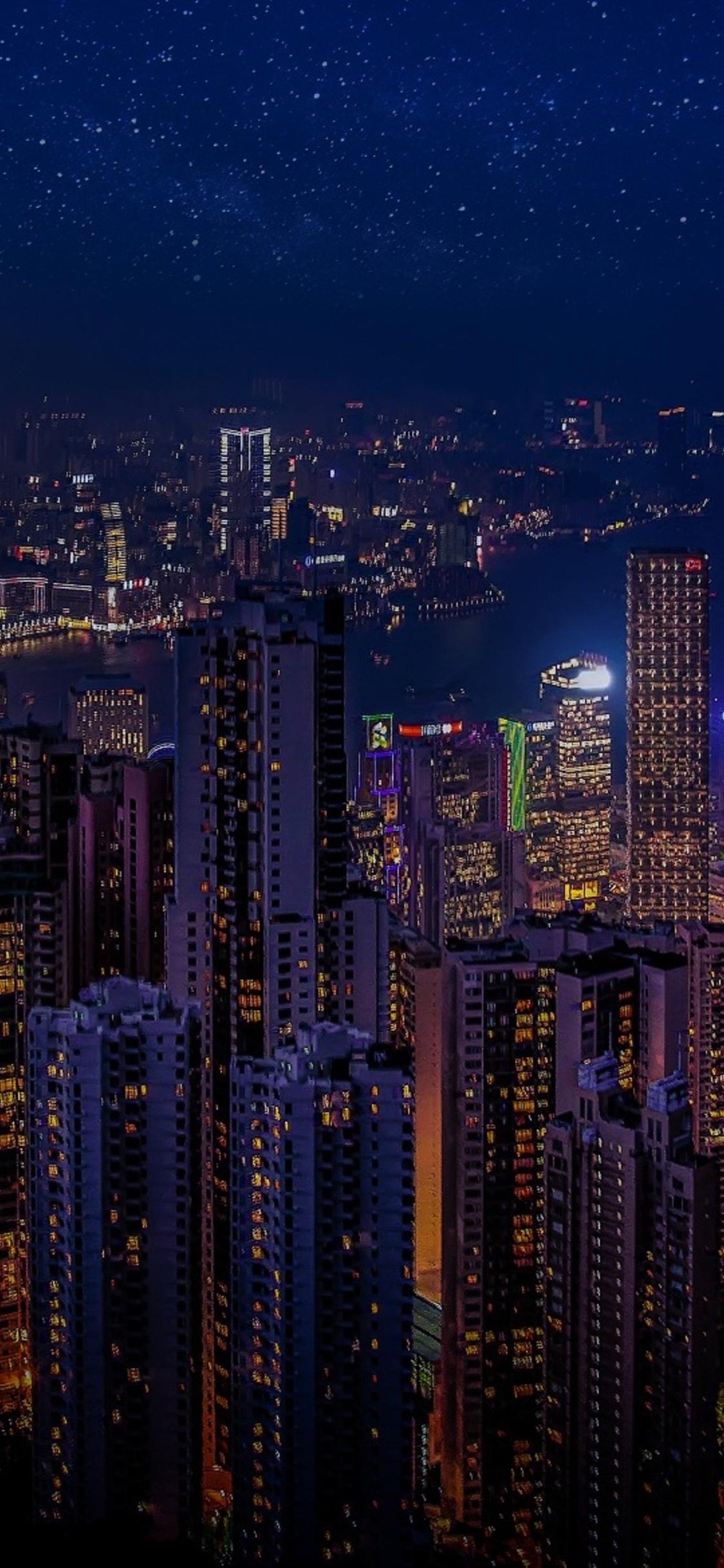 1125x2436 Hong Kong China Skycrappers Iphone Xs Iphone 10