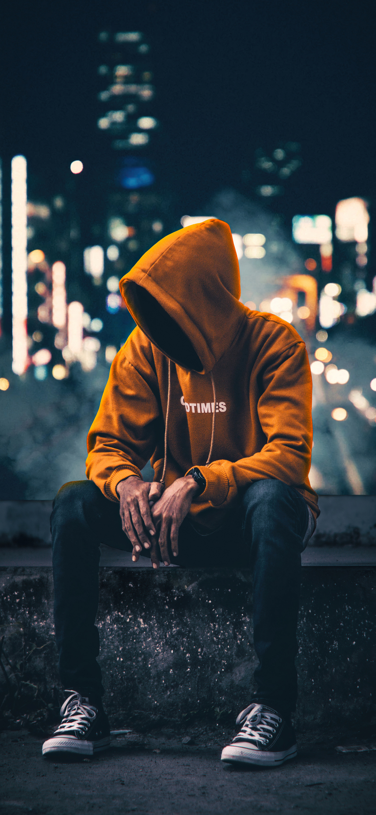hoodie 4k boy sitting anonymus aside wallpapers alone iphone xs artwork