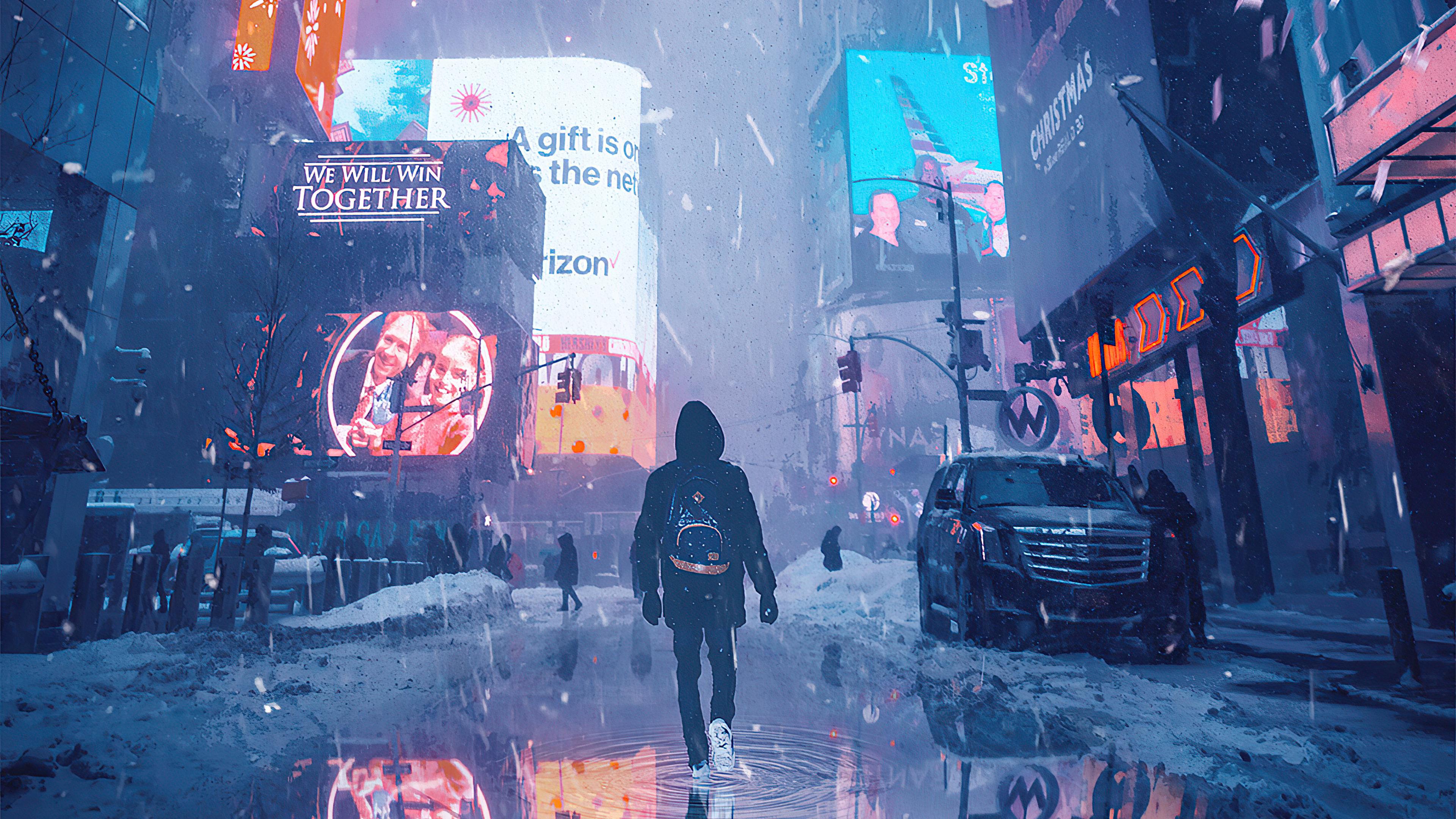 3840x2160 Hoodie Boy Walking In Ash Rain 4k 4k HD 4k ...