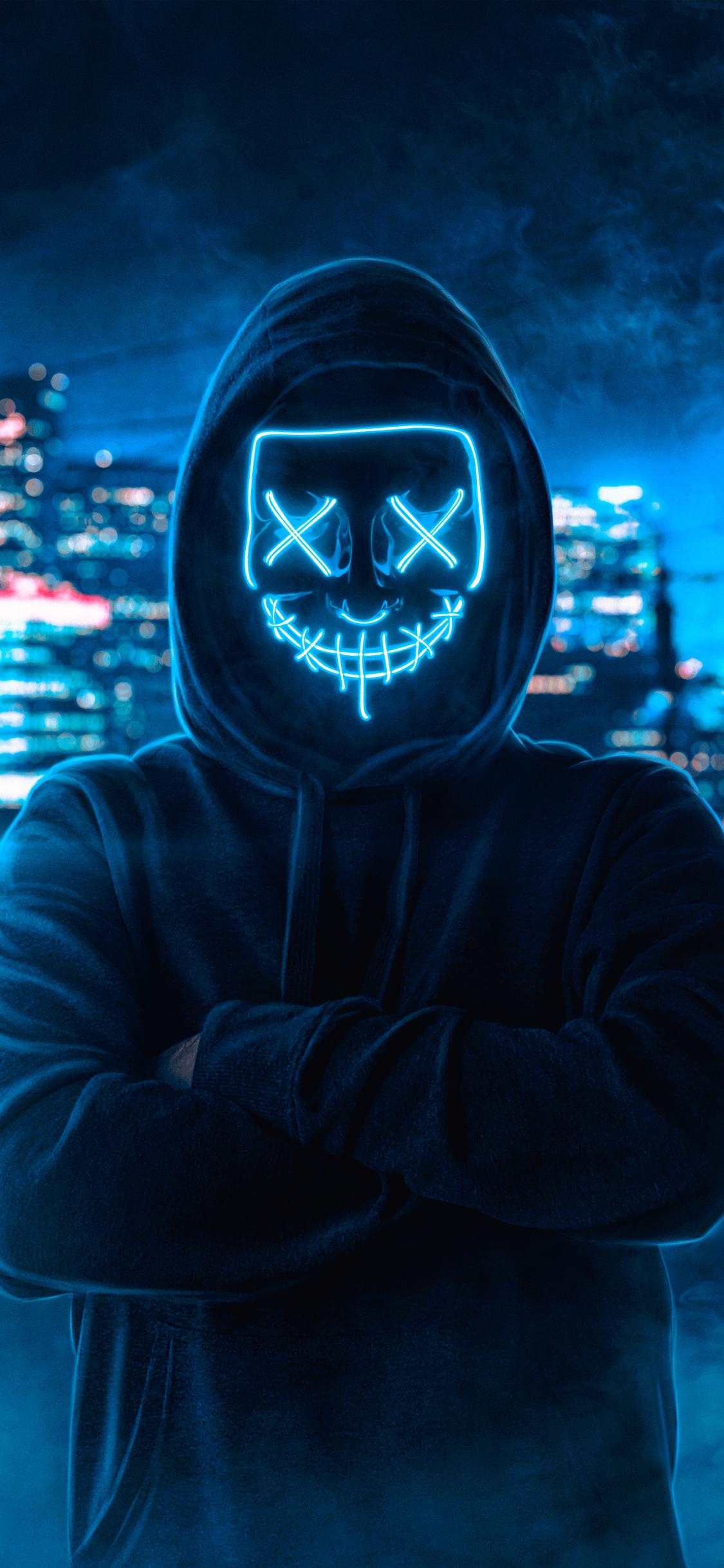 1125x2436 Hoodie Guy Mask Man Iphone Xs Iphone 10 Iphone X Hd 4k
