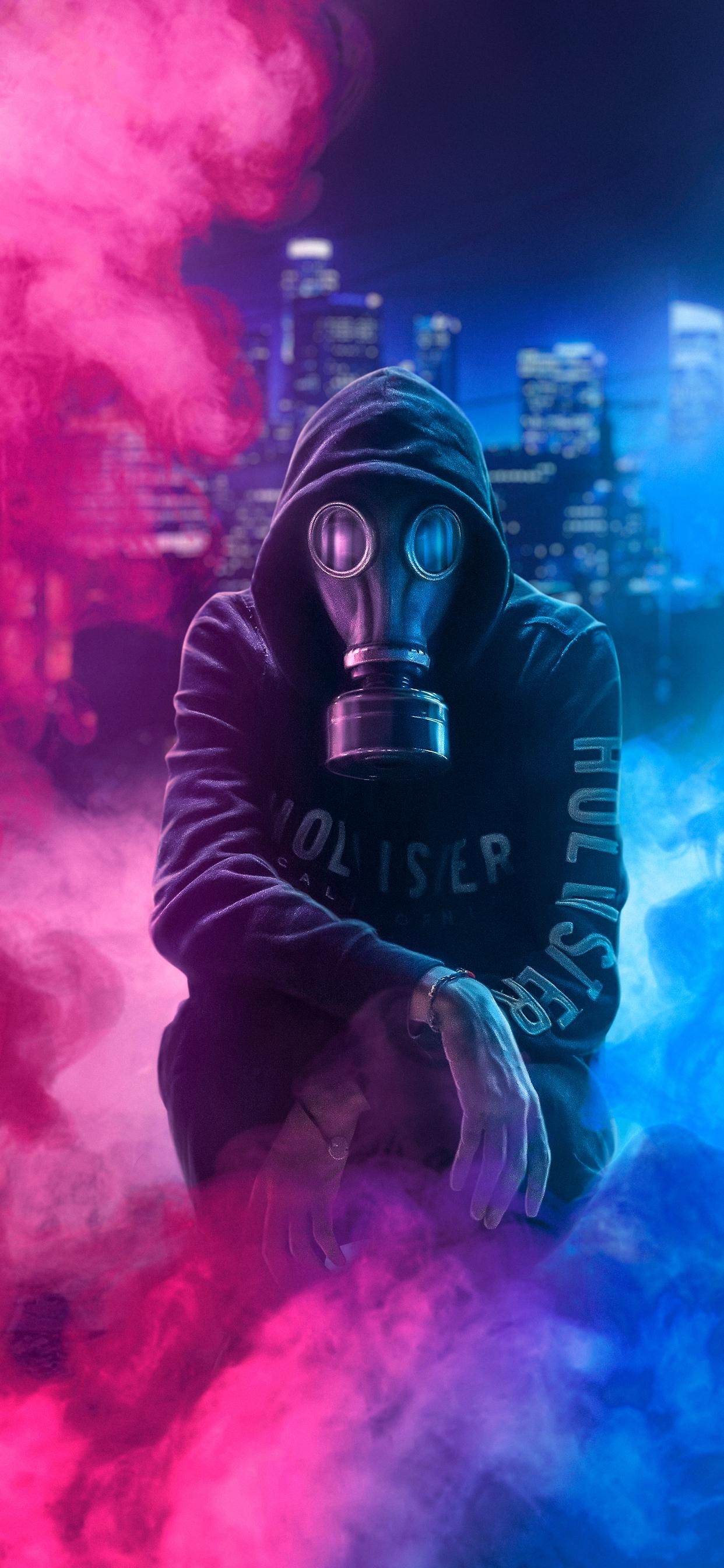 1242x2688 Hoodie Guy Mask Man 4k Iphone Xs Max Hd 4k