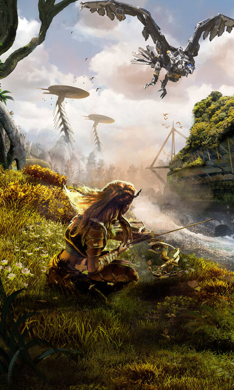 480x800 horizon zero dawn hd galaxy note htc desire nokia - Horizon zero dawn android wallpaper ...