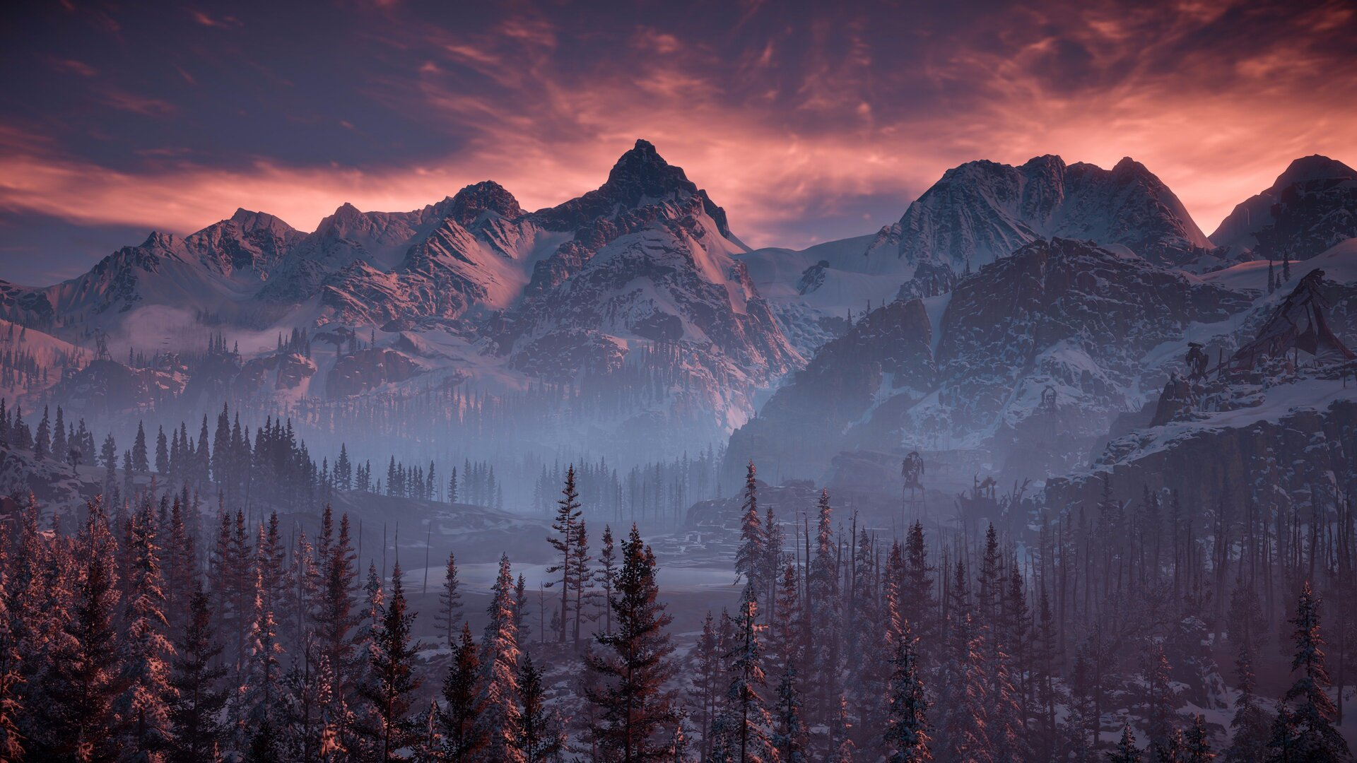 1920x1080 Horizon Zero Dawn Nature Mountains Trees Sky 4k Laptop