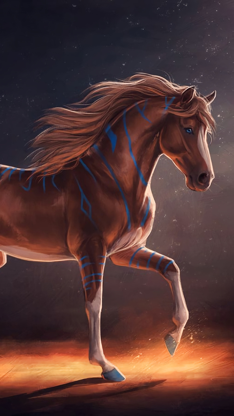 750x1334 Horse Digital Art Iphone 6 Iphone 6s Iphone 7 Hd 4k
