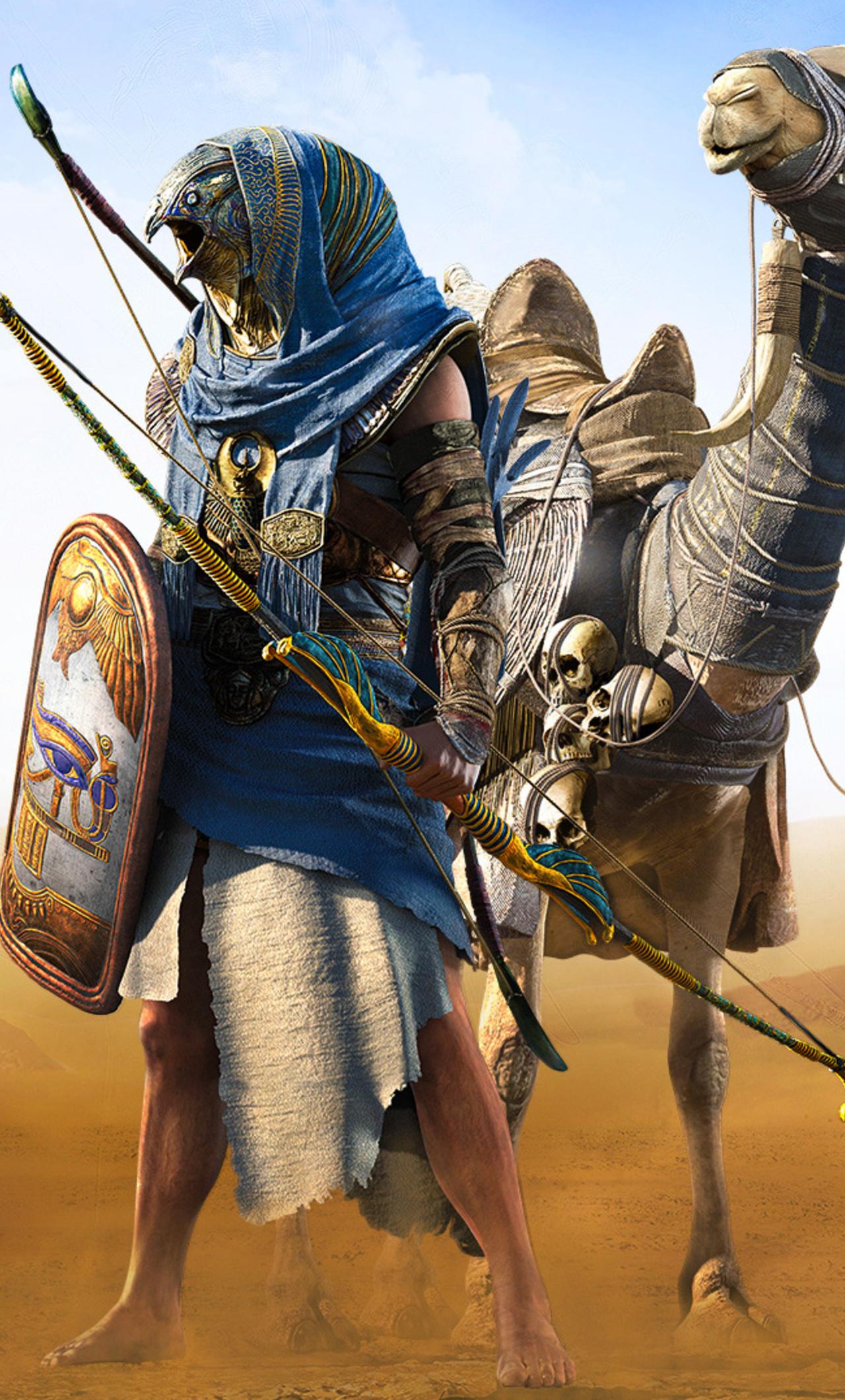 1280x2120 Horus Assassins Creed Origins Iphone 6 Hd 4k Wallpapers