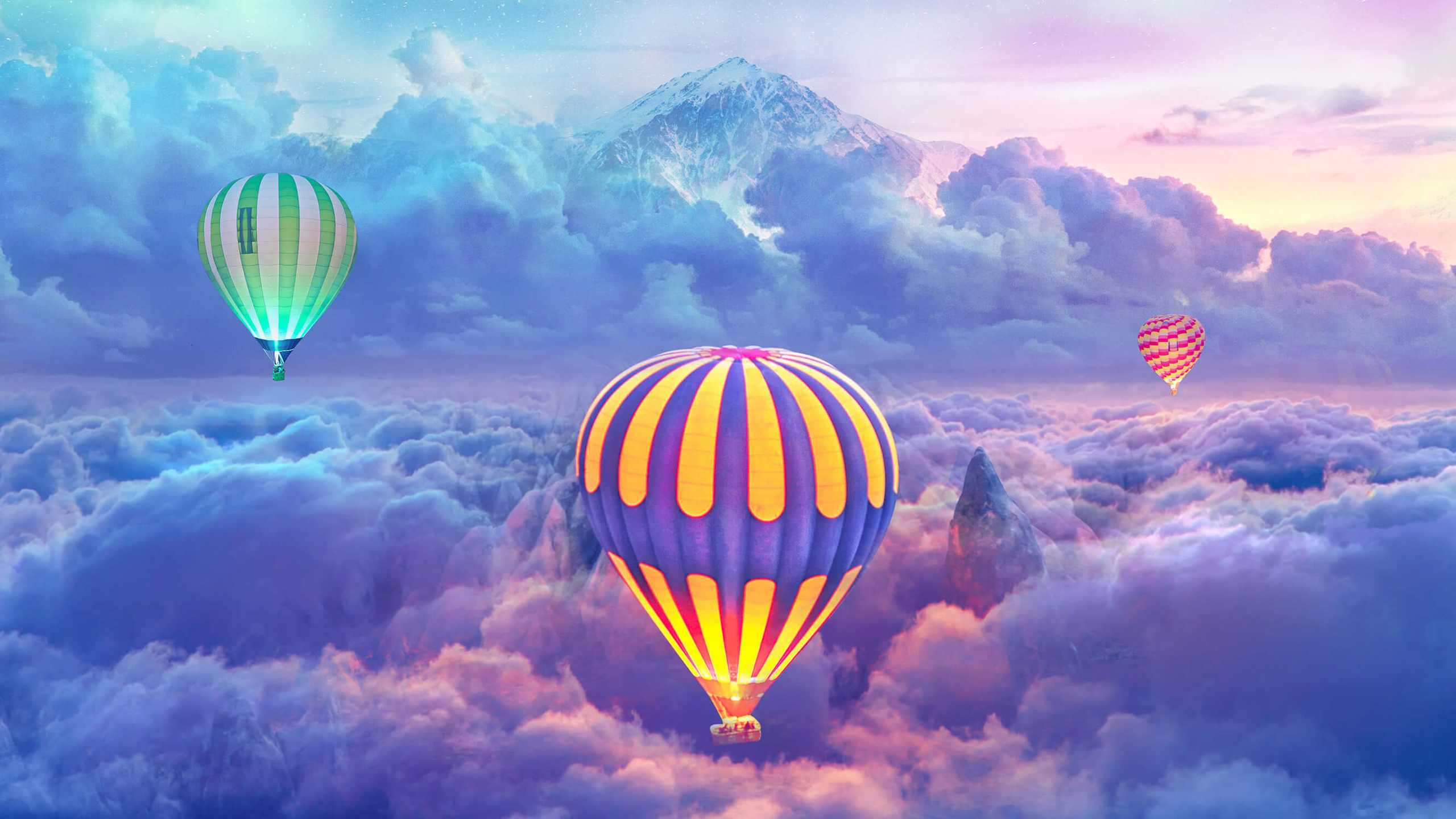 2560x1440 Hot Air Balloons Creative Photography 1440p Resolution